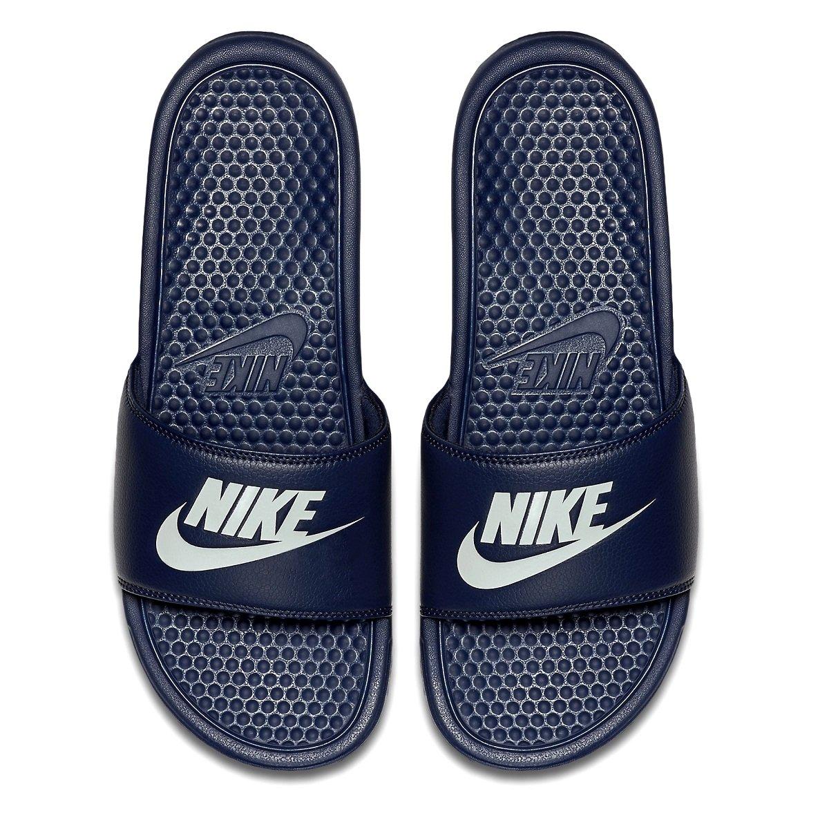 4e78cfb3774 Chinelo Nike Benassi Jdi 343880-403 - Marinho Branco - Calçados ...