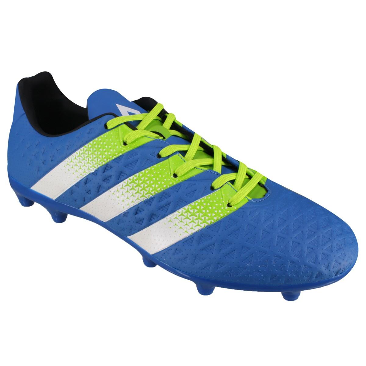 Chuteira Campo Adidas Ace 16.3 FG AG AF5148 Azul Verde 90ae0fbaaa169