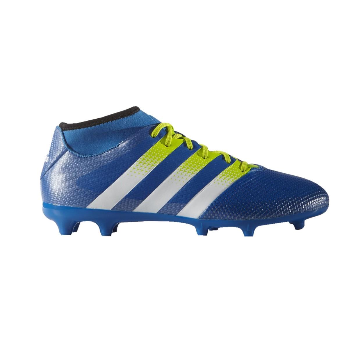 Chuteira Campo Adidas Ace 16.3 Primemesh FG AQ2556 Azul Branco 0bcfd8d60491f