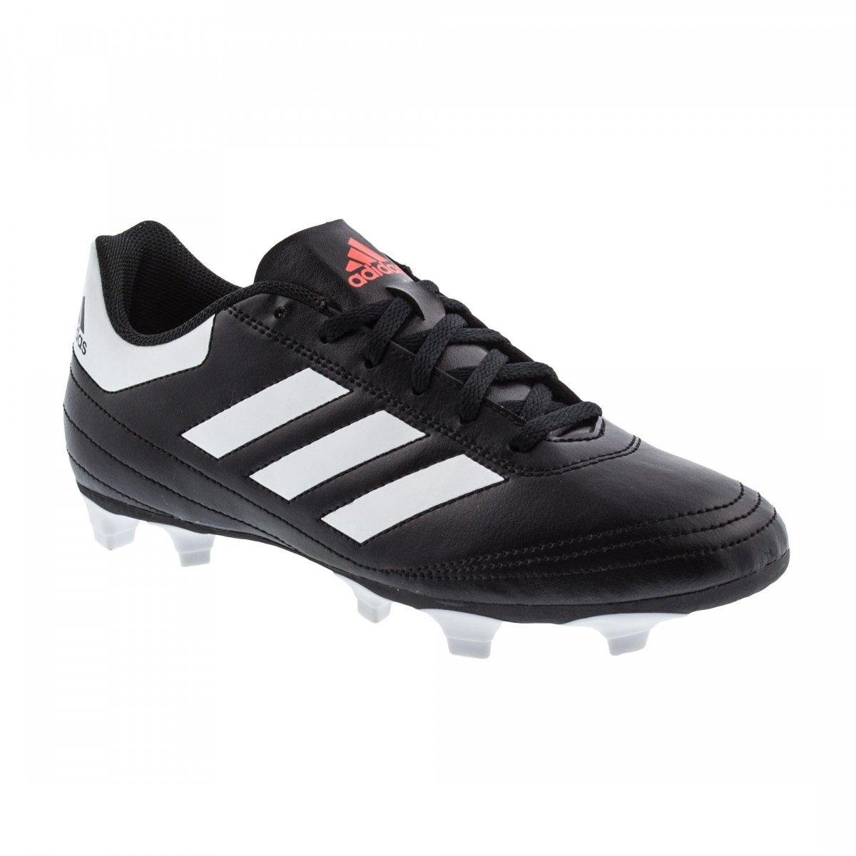 Chuteira Campo Adidas Goletto 6 FG AQ4281 - Preto Branco - Calçados ... 3d71f3f490328
