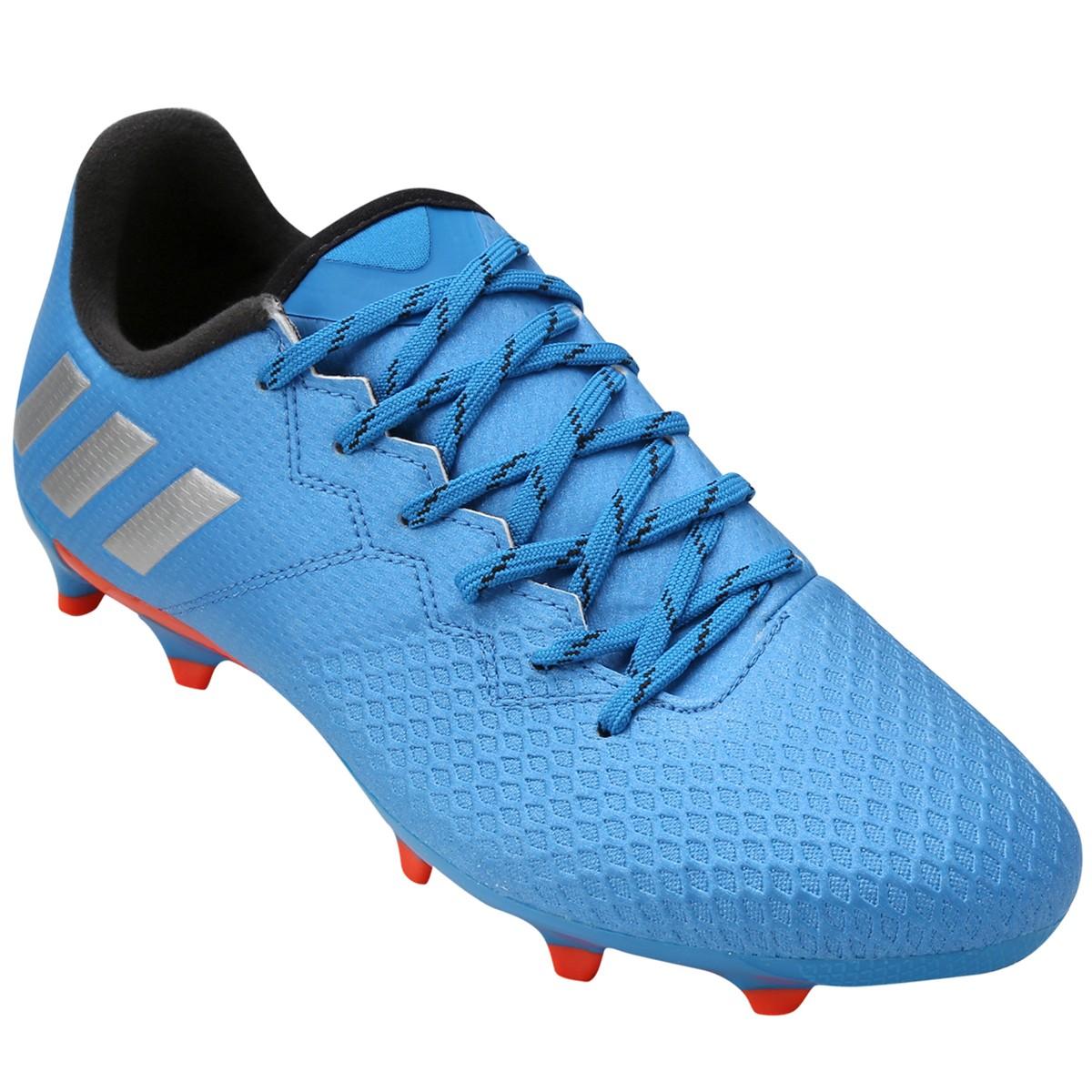 Chuteira Campo Adidas Messi 16.3 FG S79632 - Azul Prata - Calçados ... 6d1b03bc88dce