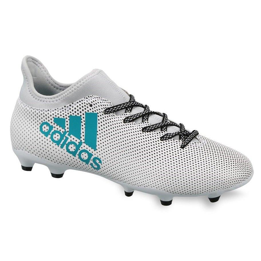 Chuteira Campo Adidas X 17.3 FG S82362 Branco Preto 89798de051492