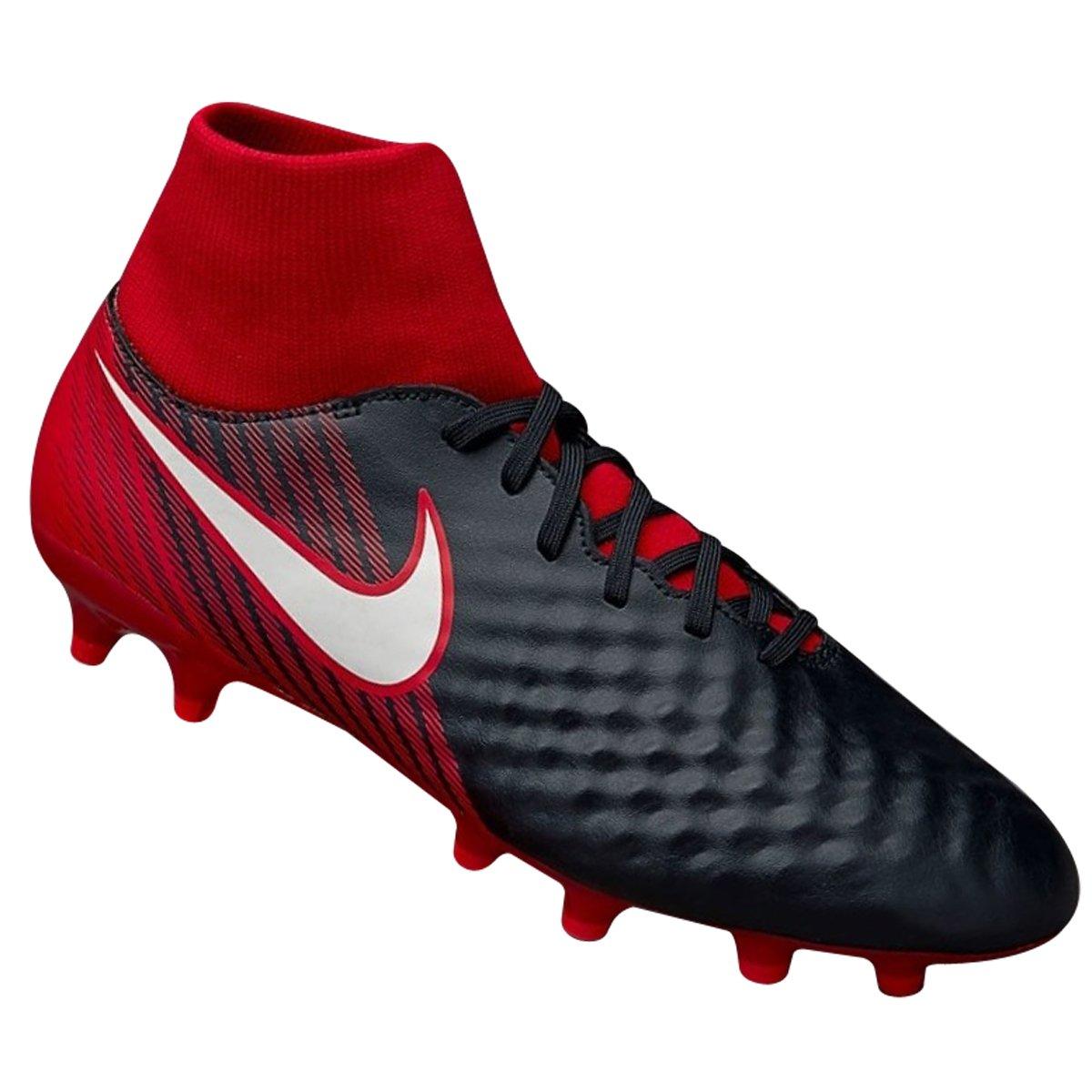 Chuteira Campo Nike Magista Onda II DF FG 917787-061 Vermelho Preto 7330637d56f20