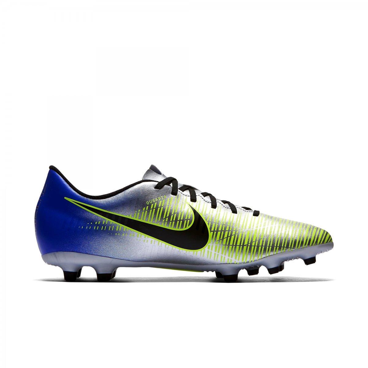 0b16d800f8 Chuteira Campo Nike Mercurial Vortex 3 Neymar 921511-407 - Prata ...