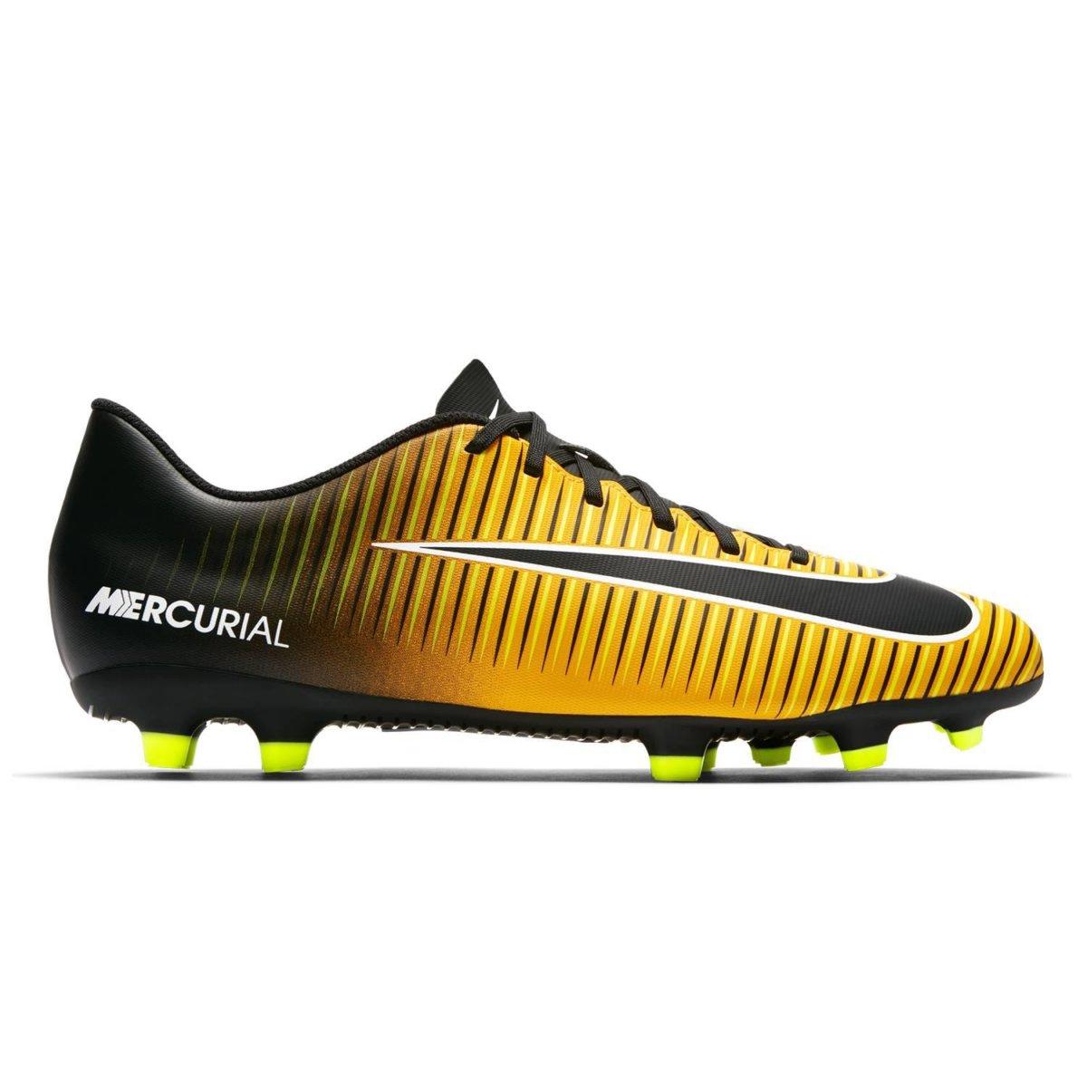 e88251fe18cc6 Chuteira Campo Nike Mercurial Vortex III FG 831969-801 Preto Laranja