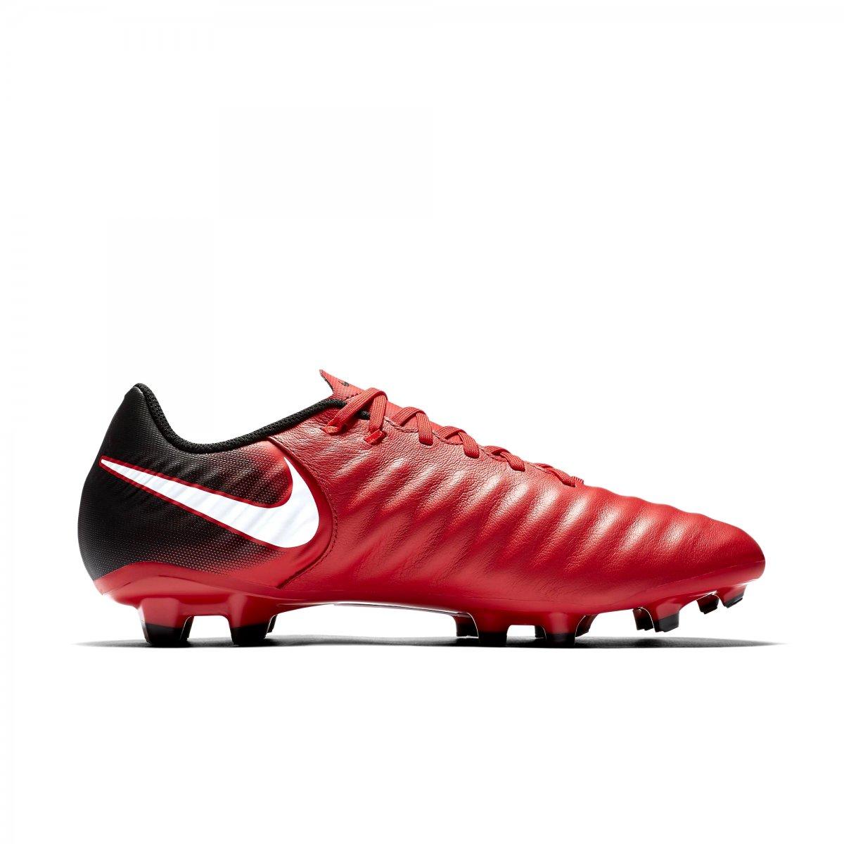 Chuteira Campo Nike Tiempo Ligera IV FG 897744-616 Preto Vermelho b47bdbd7c5bdf