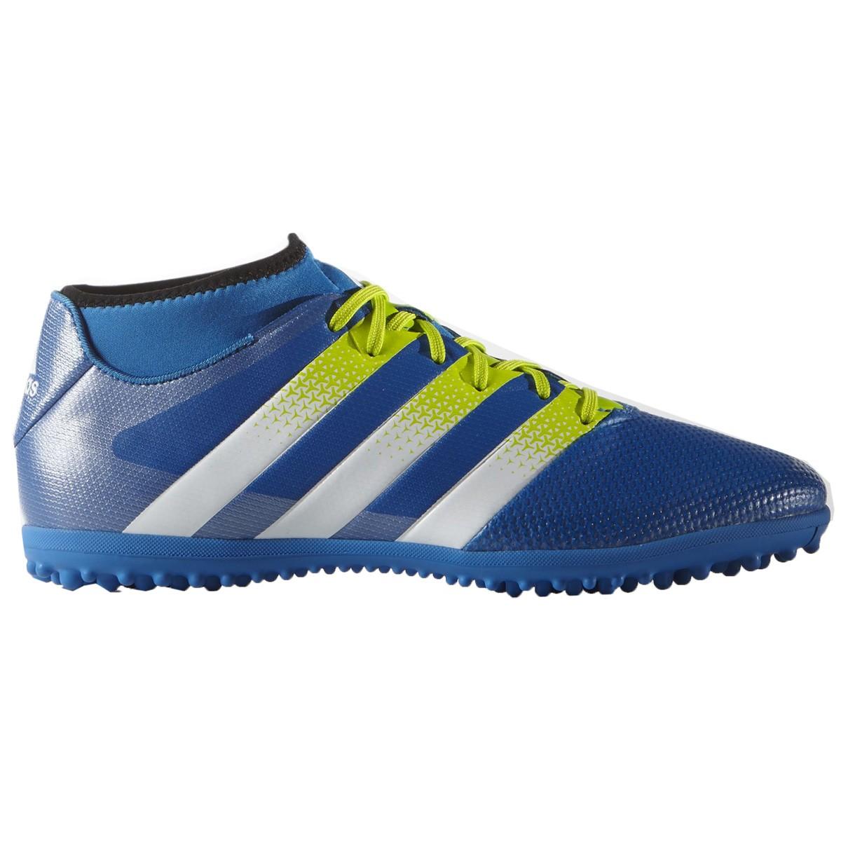 Chuteira F7 Adidas Ace 16.3 Primemesh TF AQ2564 Azul Verde 6d97a44c3402d