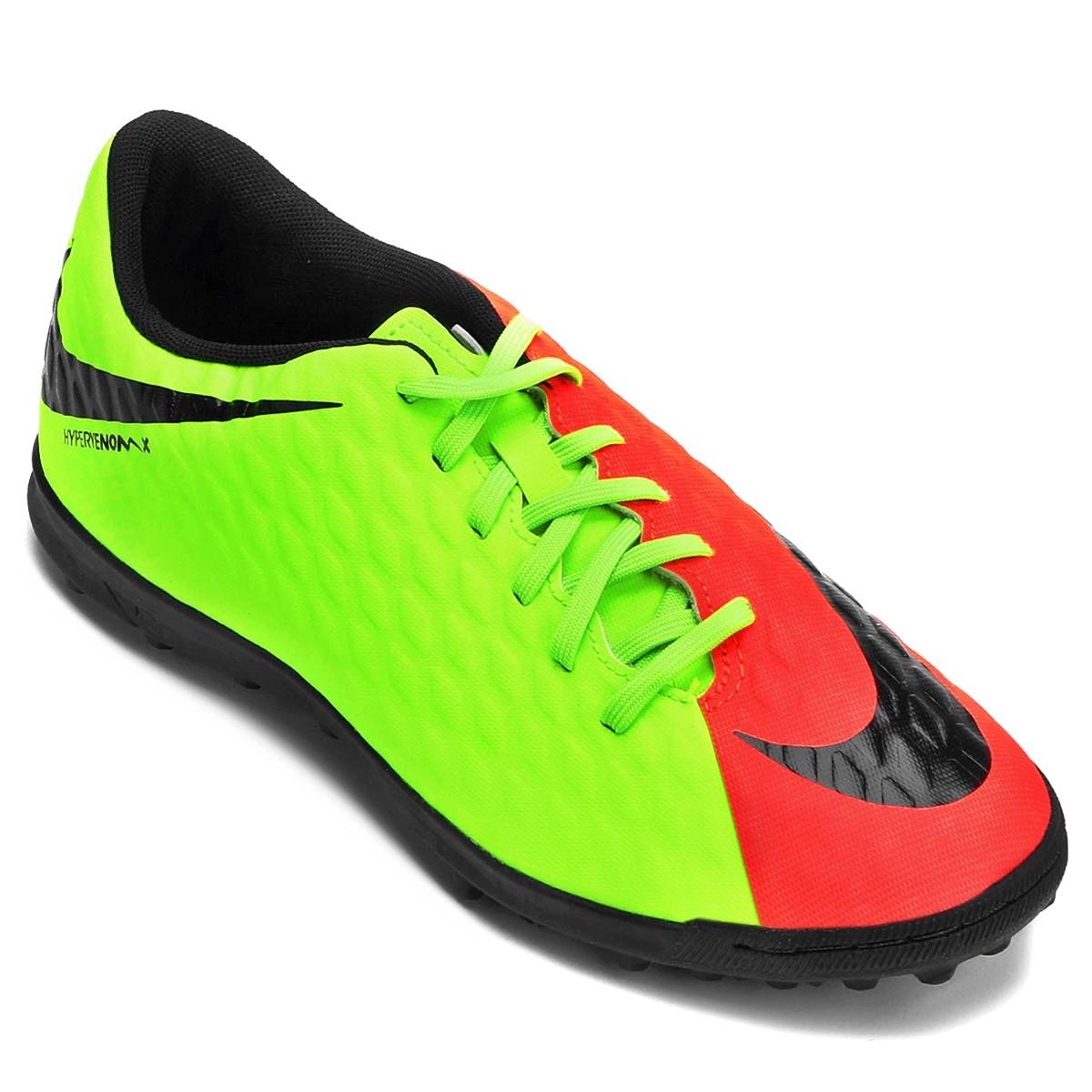 f0aa10ec7c Chuteira F7 Nike Hypervenomx Phade III TF 852545 308 Verde Salmão