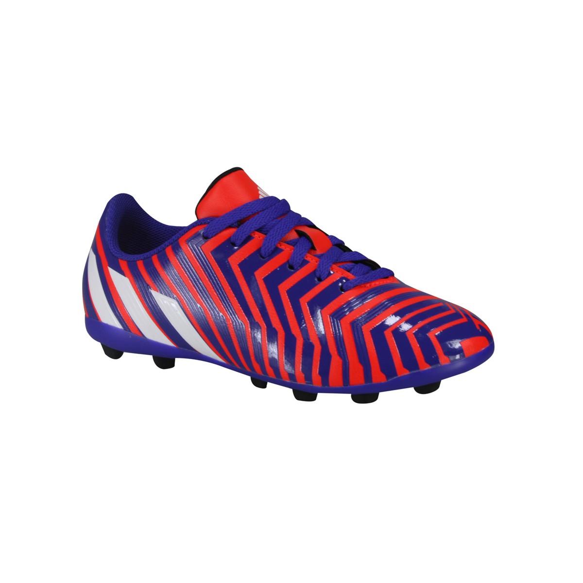 267408860ce Chuteira Infantil Adidas Predito FxG J B44358 - Laranja Roxo ...