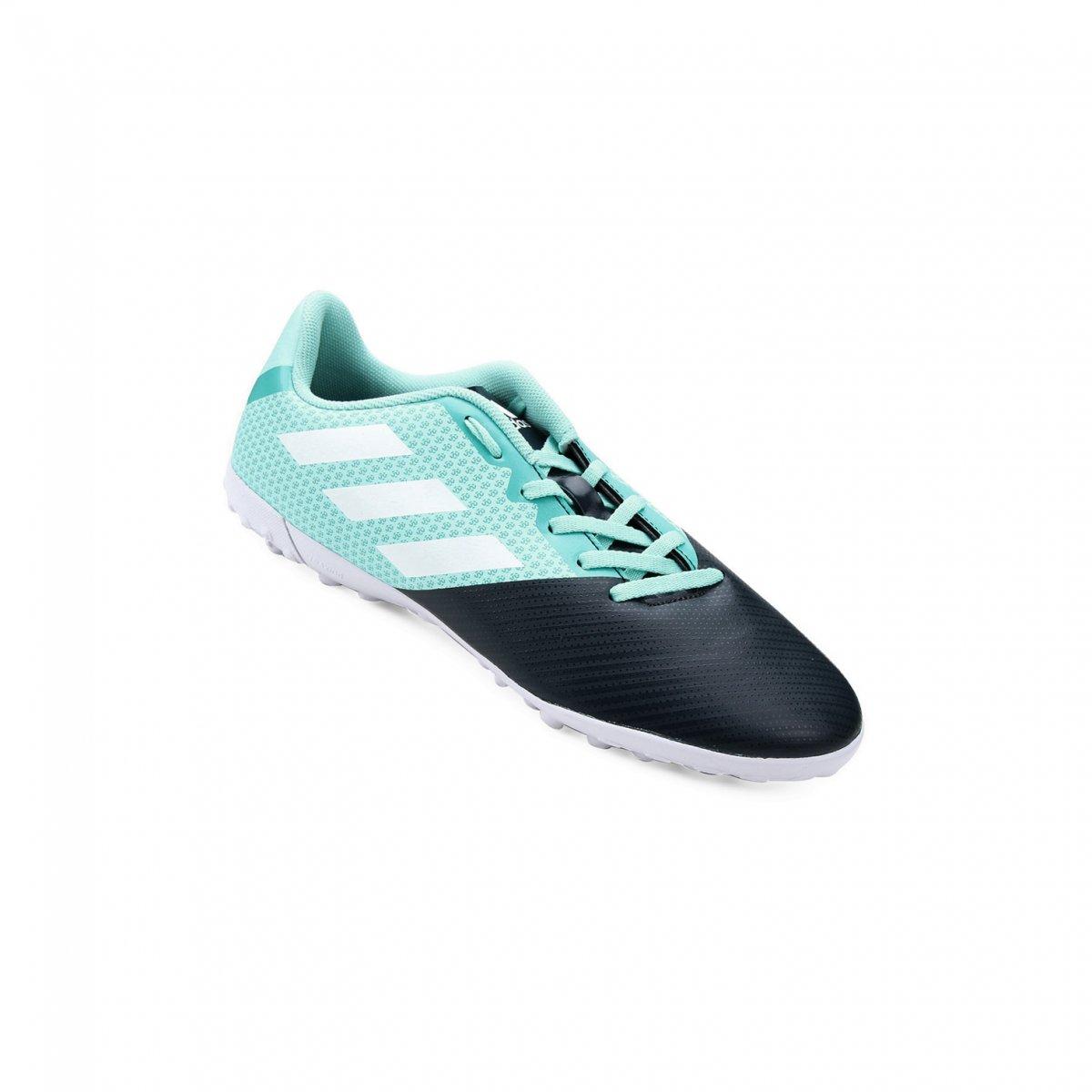Chuteira Infantil Society Adidas Artilheira II TF H68491 Preto Azul 2e4ffa9877975