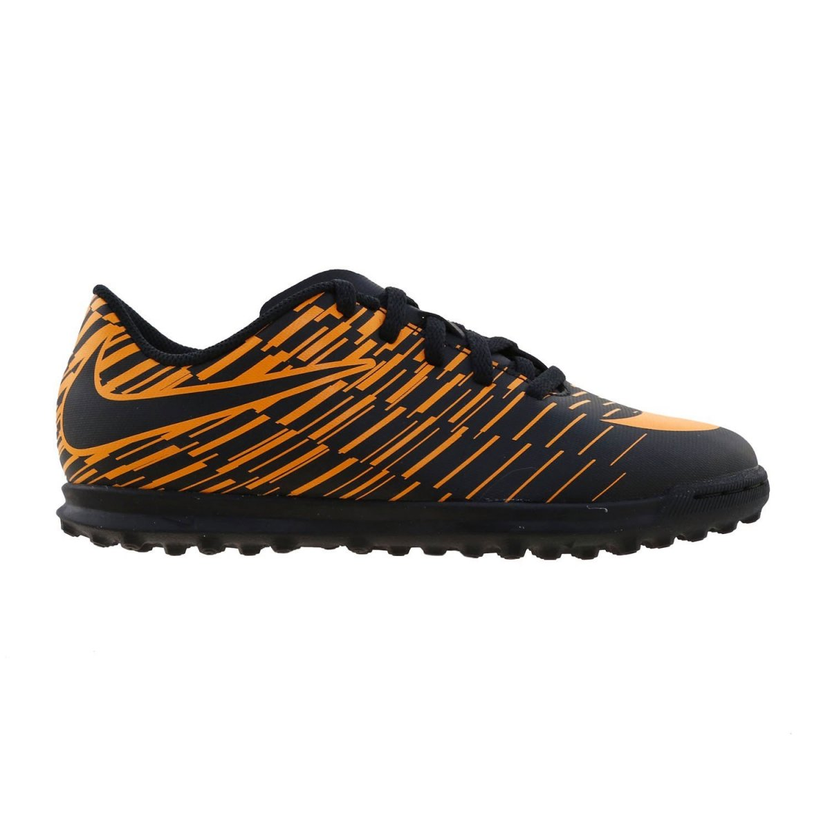 Chuteira Infantil Society Nike Bravatax II TF 844440-002 Preto Laranja b37c176898ed9
