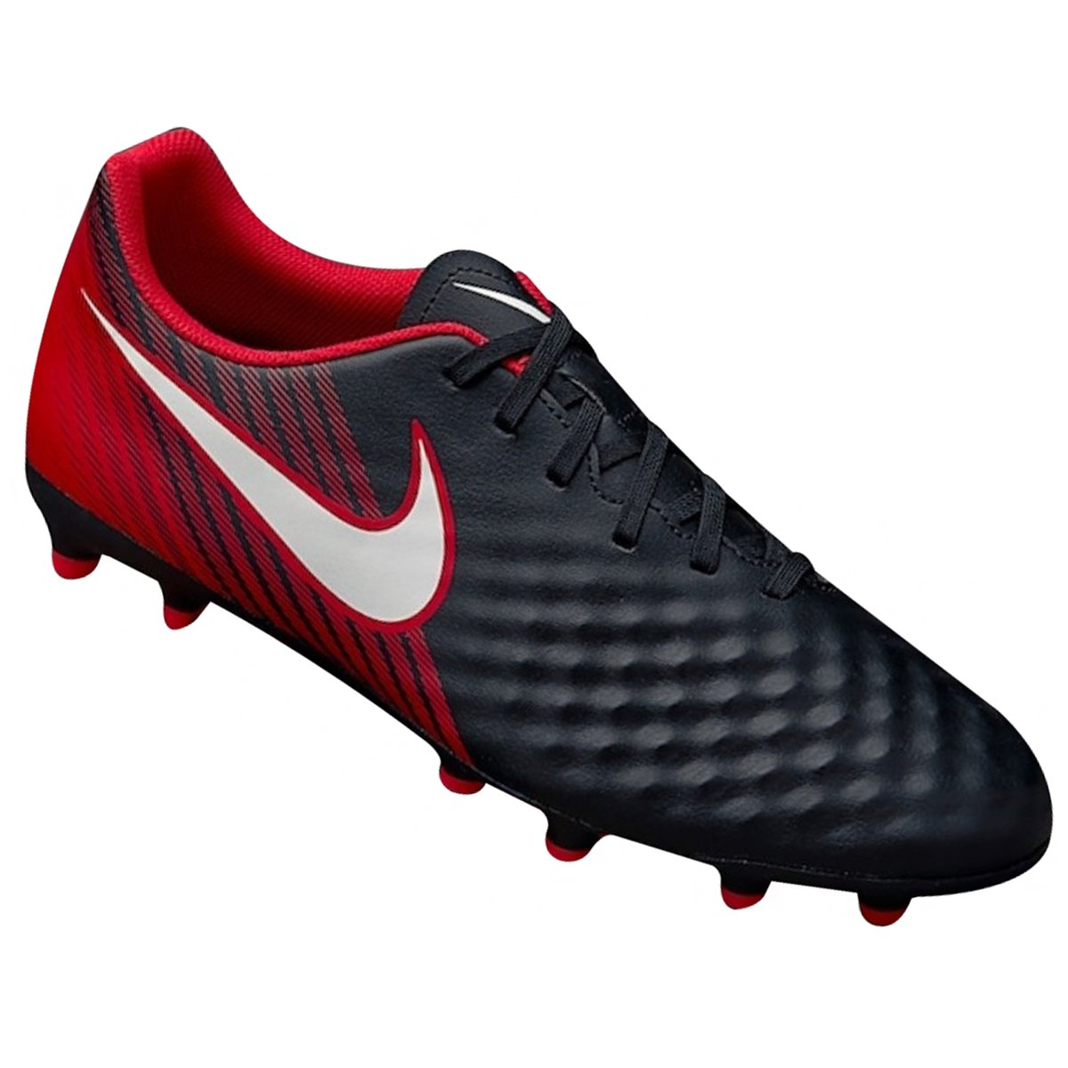 7eff2eac36 Chuteira Masculina Campo Nike Magista Ola II FG 844420-061 Preto Vermelho