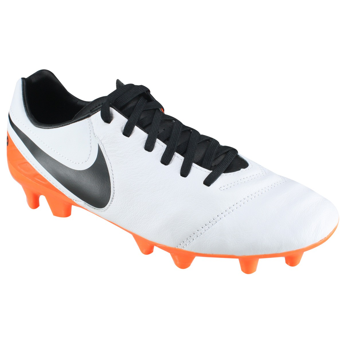 201dc35c31449 Chuteira Campo Nike Tiempo Mystic V FG 819236-108 - Branco Laranja ...