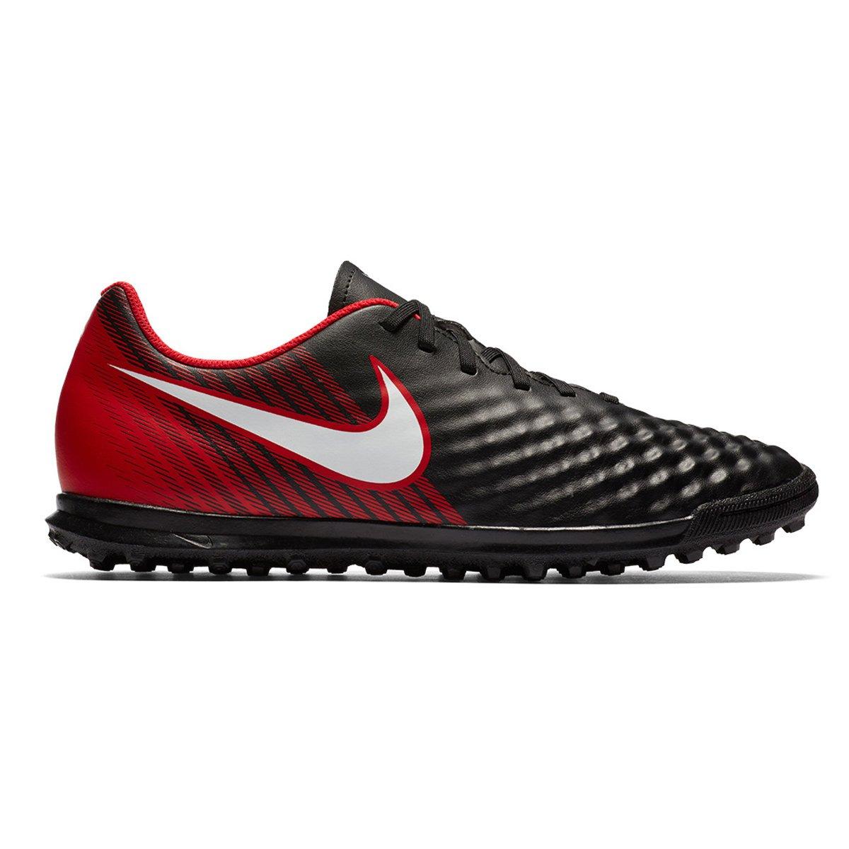 0d0ed57e4e Chuteira Society Nike Magistax Ola II TF 844408-061 Preto Vermelho