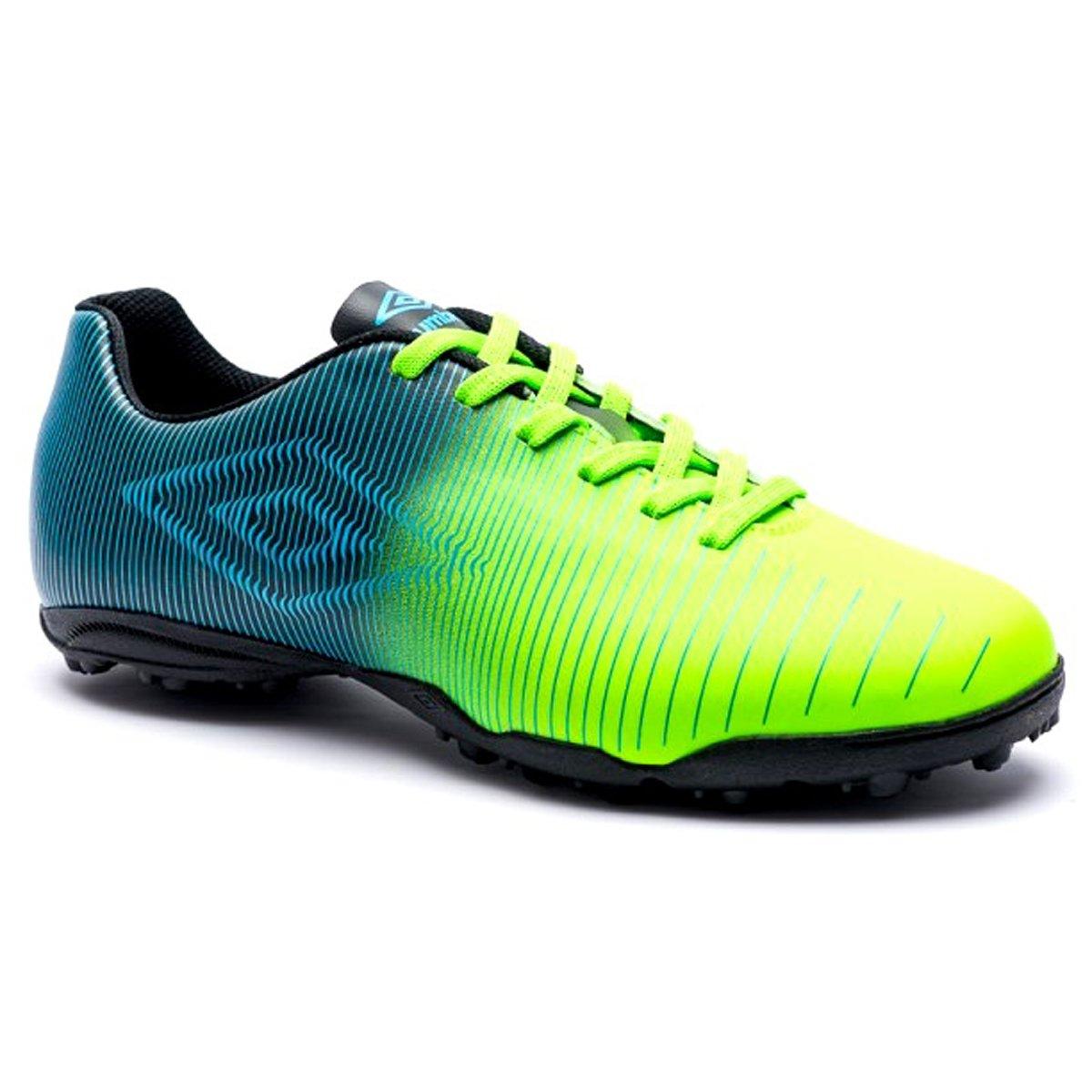 Chuteira Society Umbro Vibe 0F71072-513 - Verde Preto Azul ... bbd7065ec1a4b