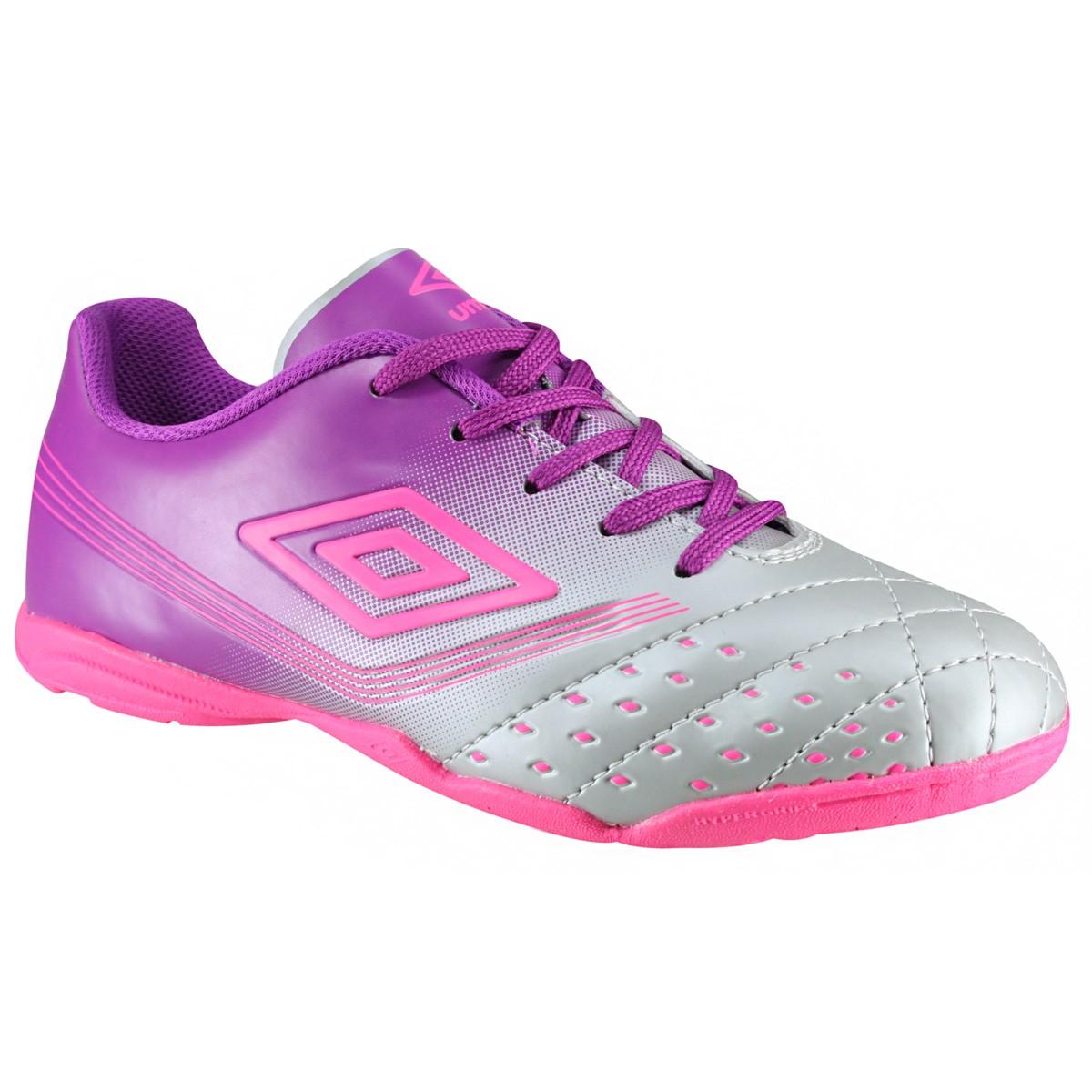 Indoor Feminino Fifty Umbro OF72063-000 Cinza Roxo Pink b621defd61a3b