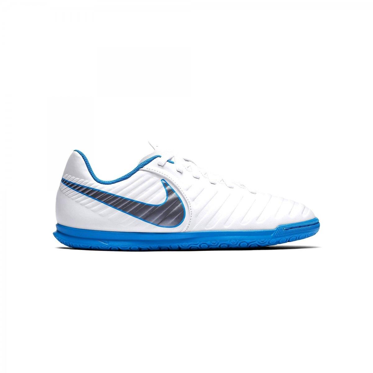c612abc72c Indoor Infantil Nike Jr Tiempo Legend Club 7 AH7260-107 - Branco ...