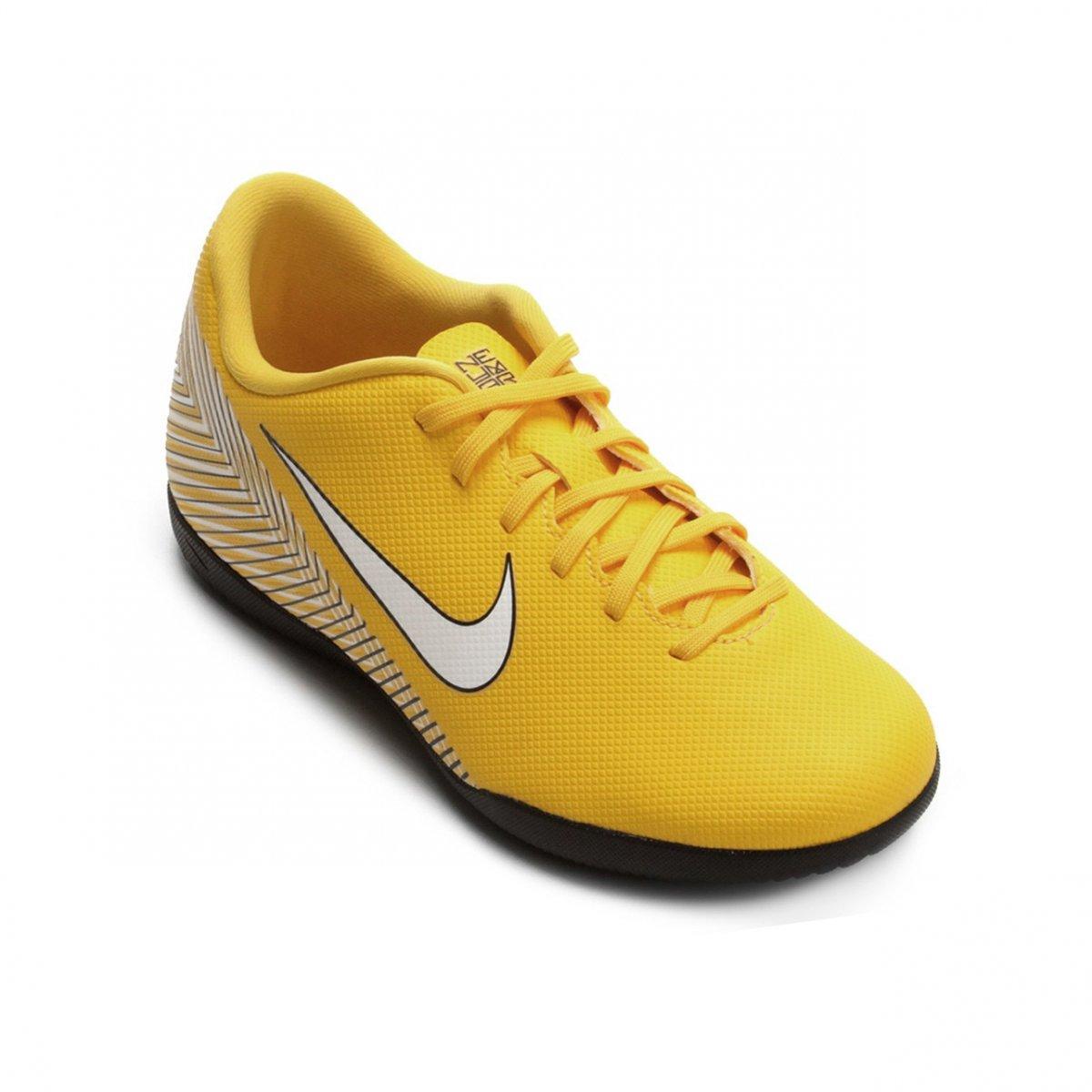 Indoor Infantil Nike MercurialX Neymar Vapor XII AO9477-710 Amarelo Preto e3cfd57078c5a