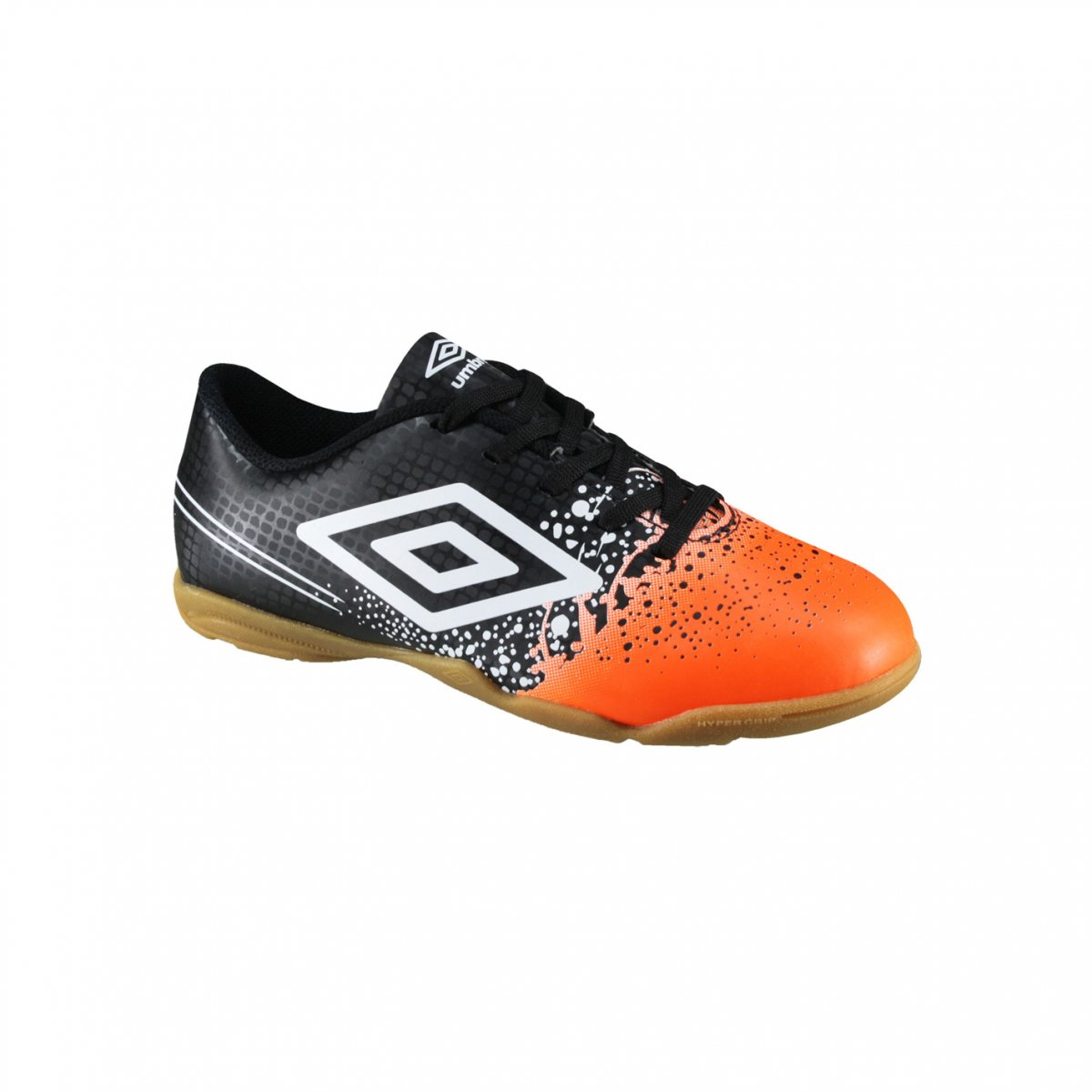 8386fb3415 Indoor Infantil Umbro Wave Jr OF82043-162 Preto Laranja Branco