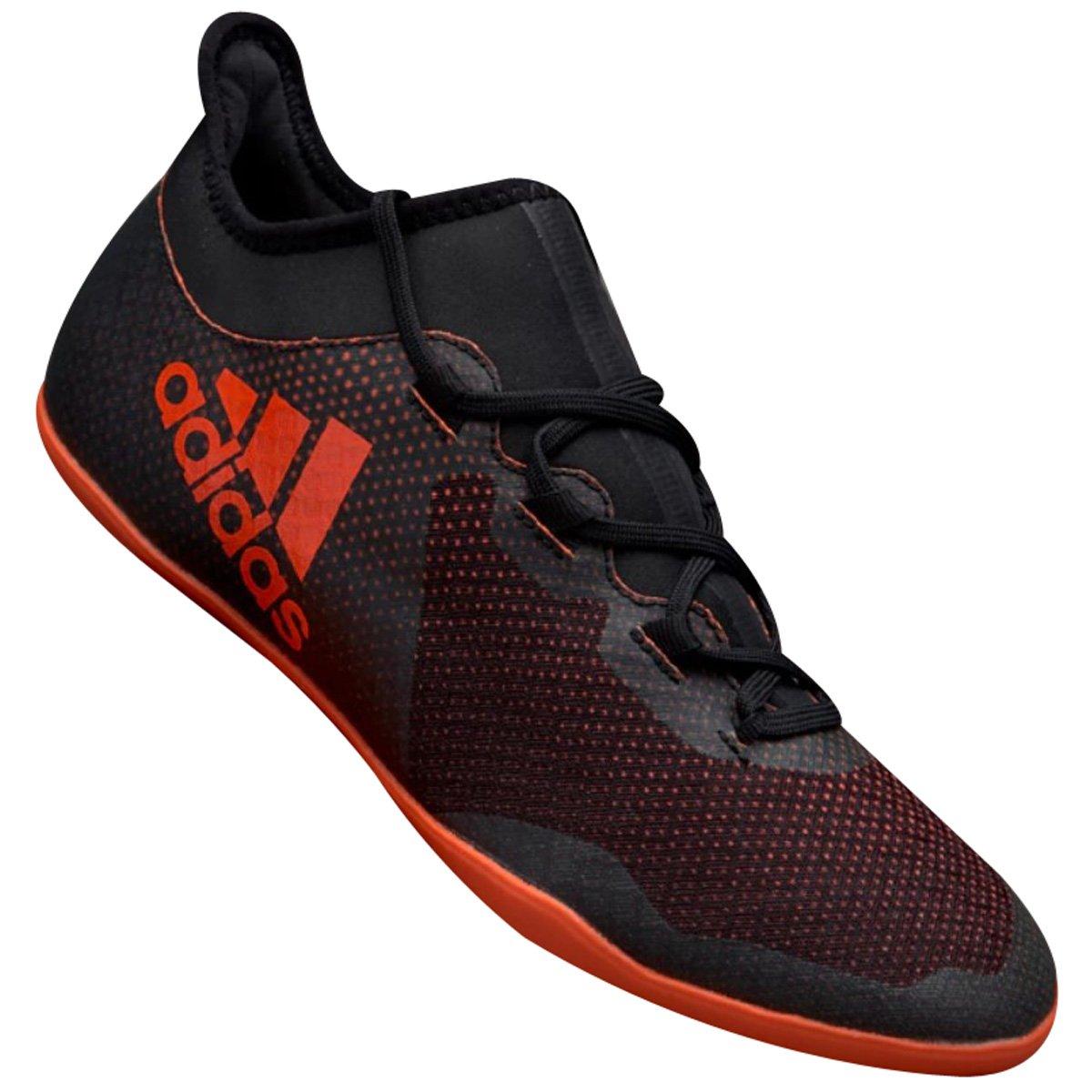 d9e91b453 Indoor Masculino Adidas X Tango 17.3 CG3718 Laranja Preto