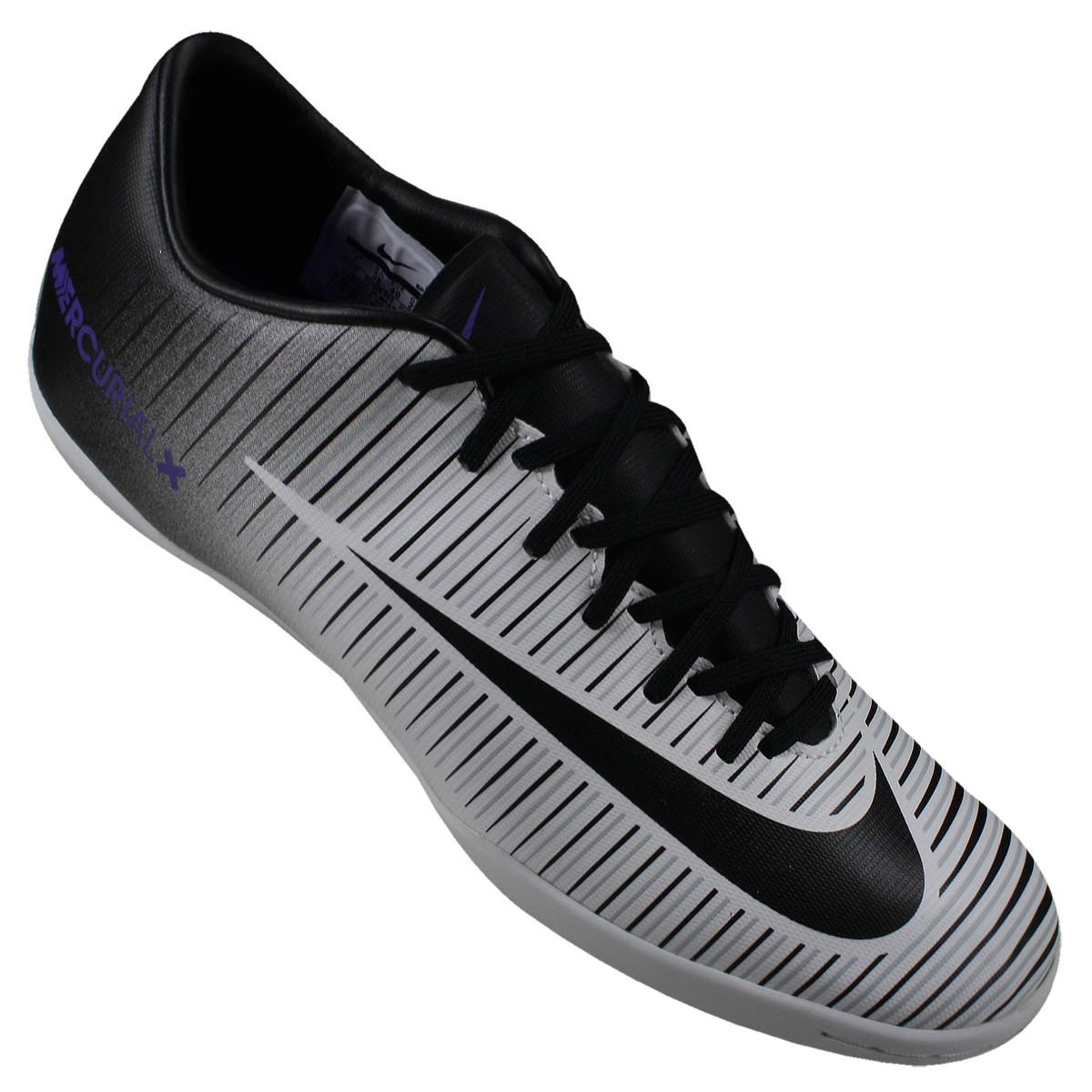 15bbfd6710 Indoor Nike Mercurial Victory VI IC 831966 005 Preto Branco Roxo