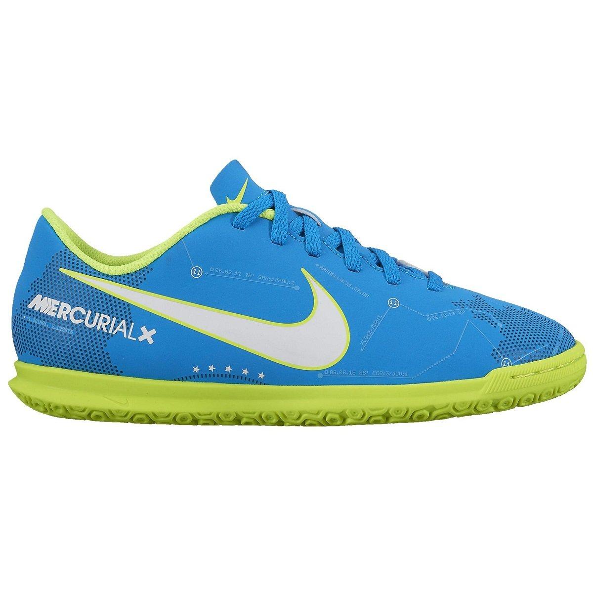 8d448267eb Indoor Nike Mercurialx Vortex III Neymar 921518-400 - Azul Verde ...