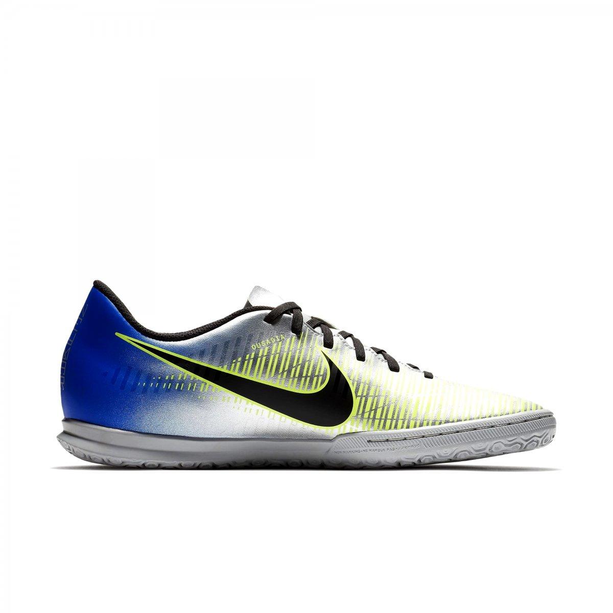 38b5aa8ca5 Indoor Nike Mercurialx Vortex III Neymar 921518-407 - Prata Azul ...