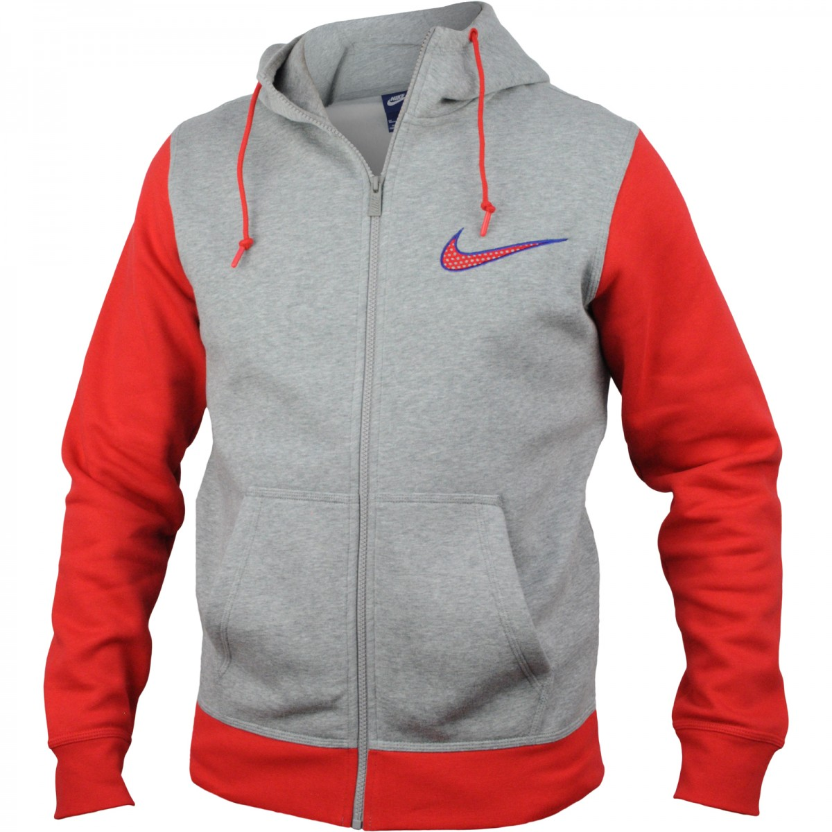 921a5419db Jaqueta Masculina Nike Club Fleece Swoosh Full 727757-063 Cinza
