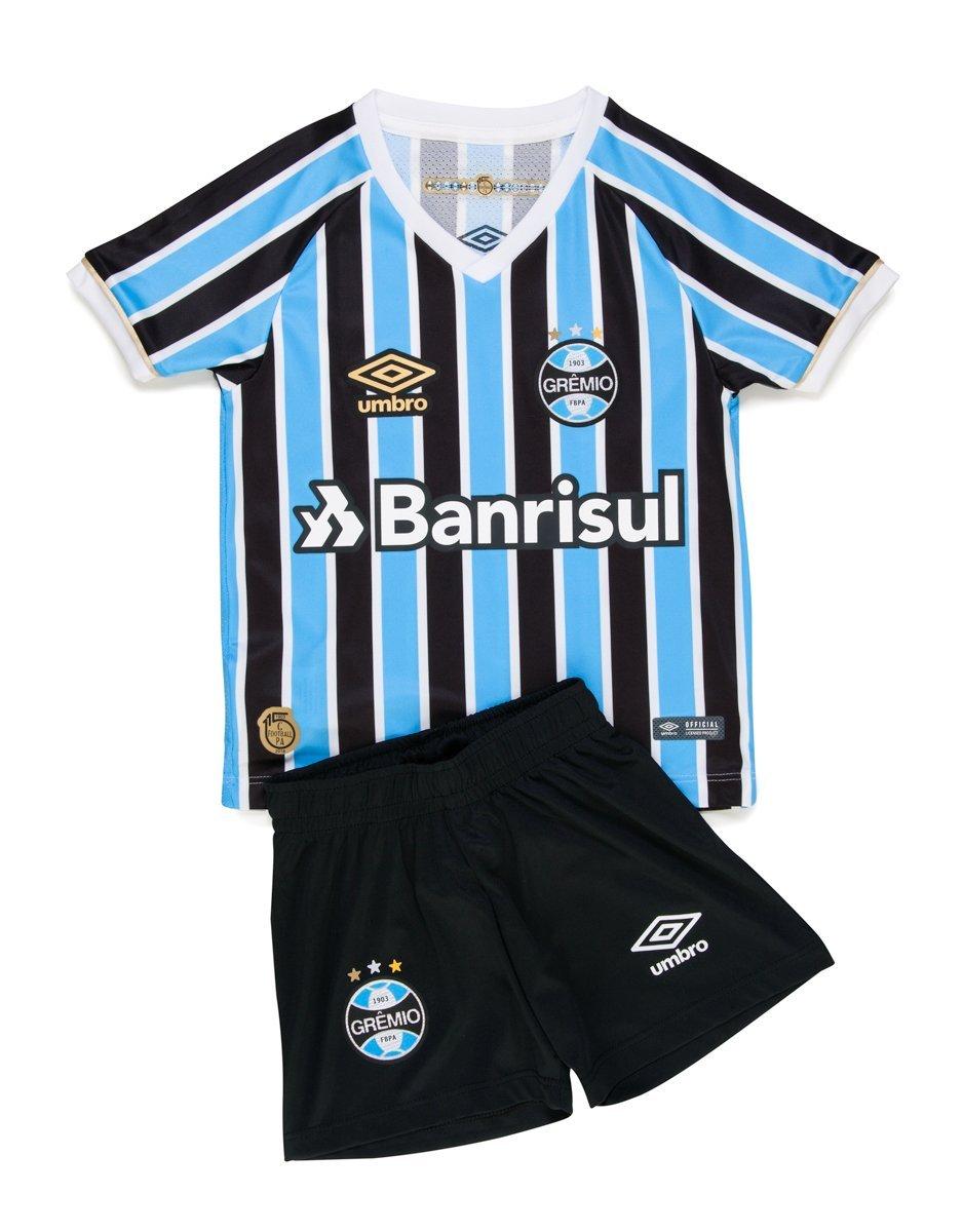 68f7784194 kit Infantil Umbro Grêmio Oficial 1 2018 3G270025 312 - Tricolor ...