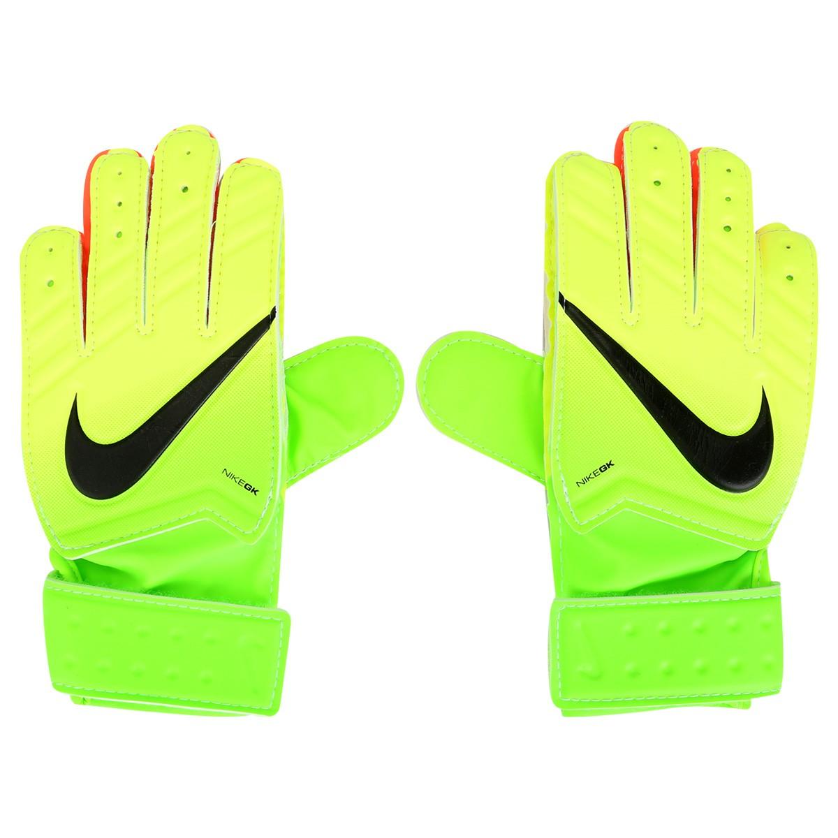 Luva de Goleiro Nike GK Jr Match GS0331-336 Verde Preto e0f675723104d