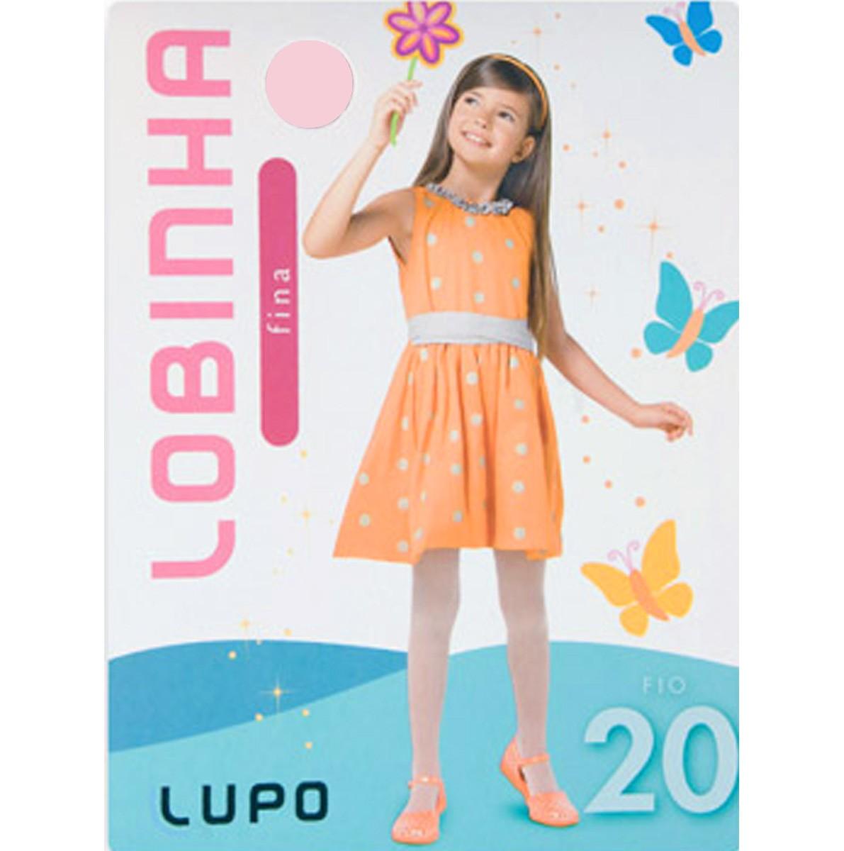 bd5fac19b Meia Calça Infantil Lupo Lobinha Fina Fio 20 2570 - Rosa - Calçados ...