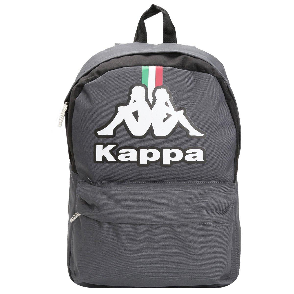 Mochila Média Italia Kappa KP4087001-041 Chumbo Preto 4c6f09bebb9c2
