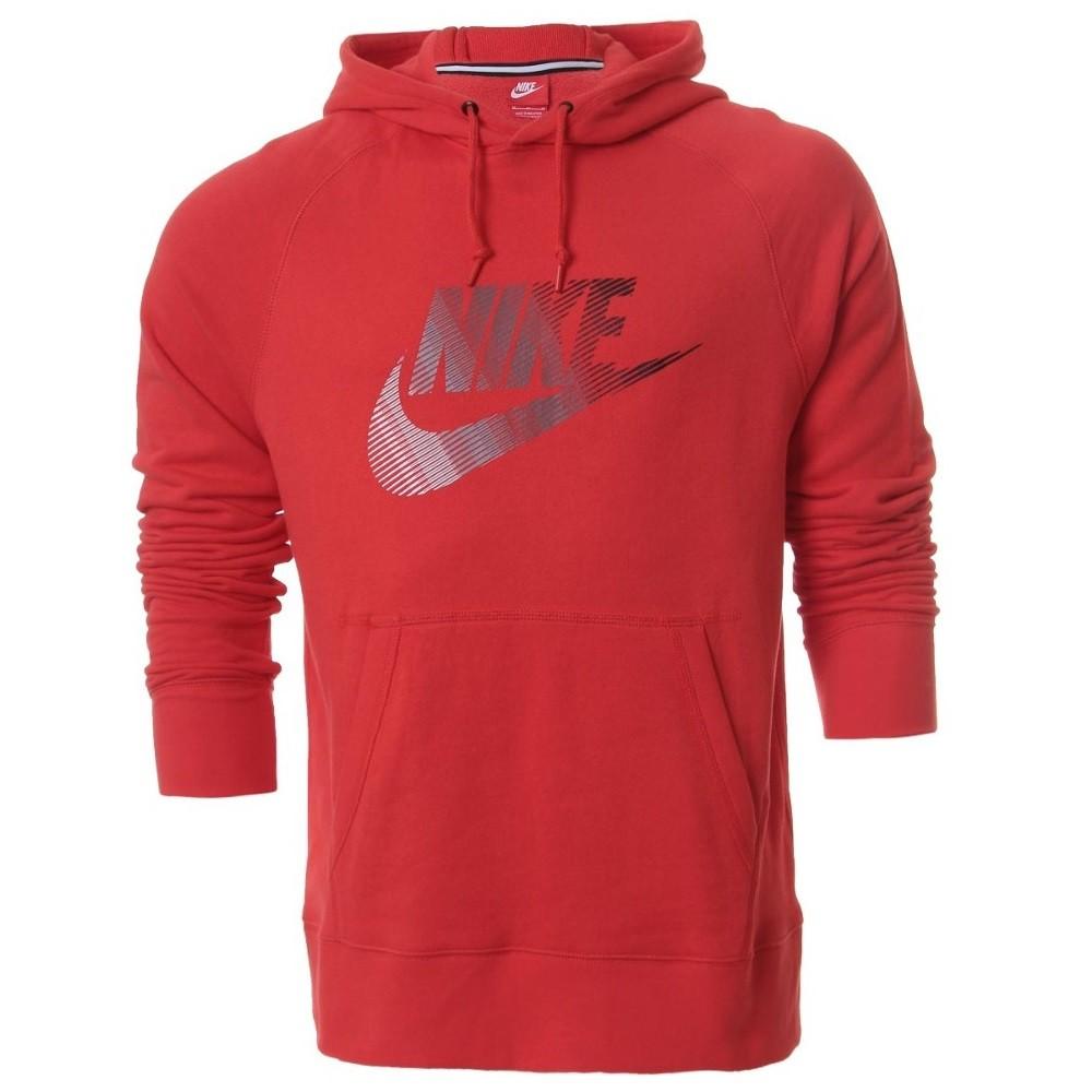 f4a0329e8a4 Moletom Nike AW77 French Terry Futura Pullover 727389 696 - Vermelho ...