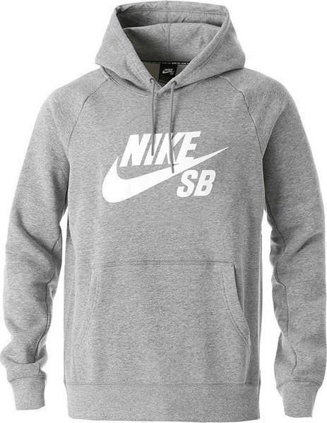 Moletom Nike SB Icon Hood 846886-063 - Cinza - Calçados Online ... e5bd98355cd