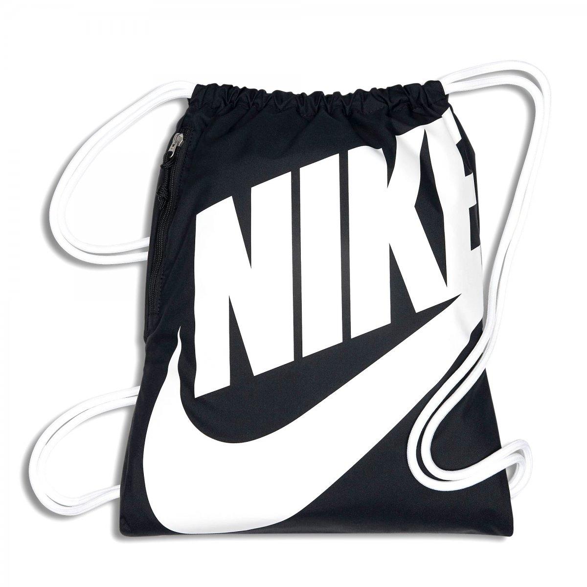 e4d162d7dae77 Saco de Academia Nike Heritage Gym Sack BA5351-011 Preto Branco