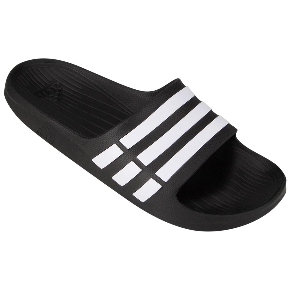 156ac18da51 Sandália Adidas Duramo Slide G15890 Preto Branco