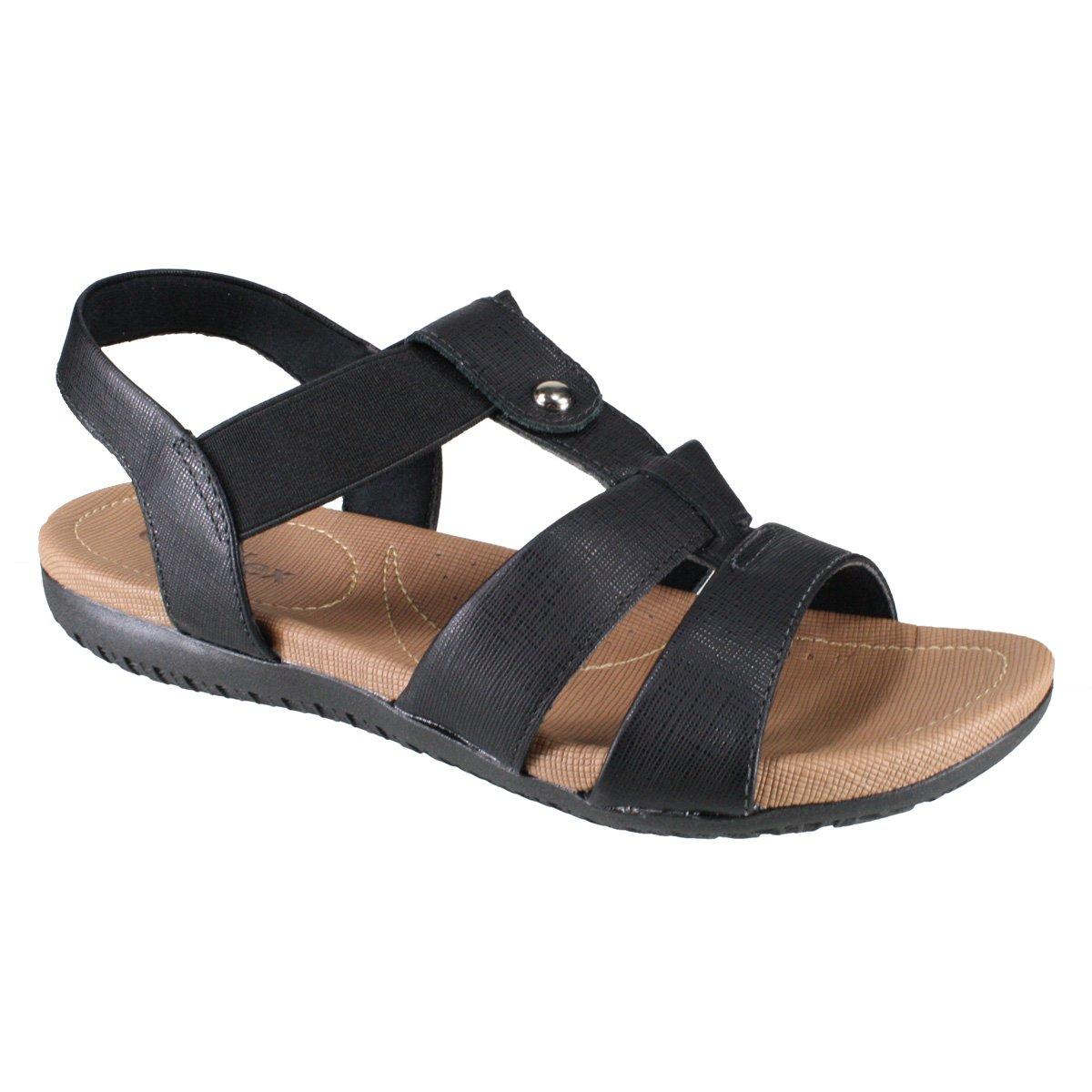 9795c7ca70 Sandália Feminina Usaflex R1834 50 - Preto (Safiano) - Calçados ...