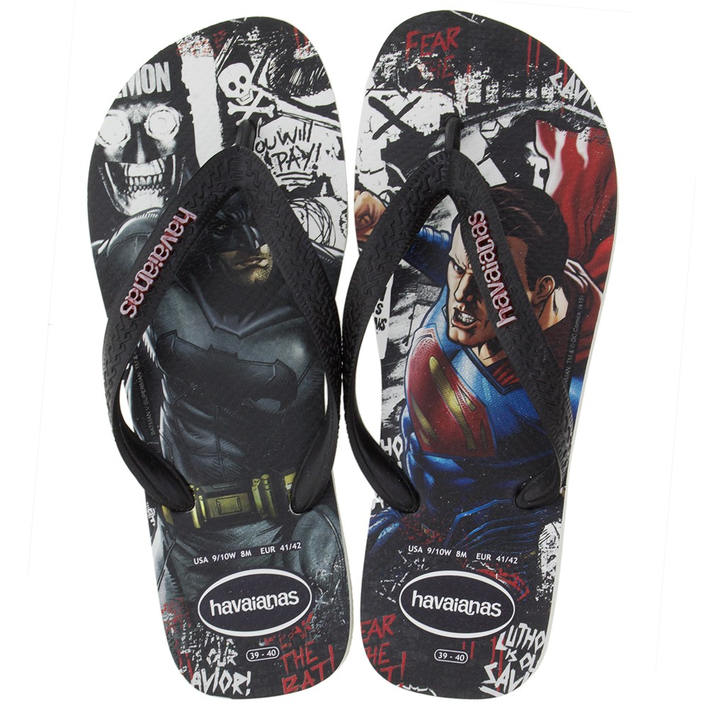 bb68160fb52c85 Sandália Havaianas Batman vs Superman