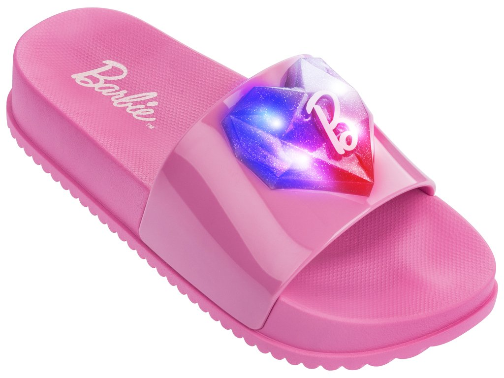 f8ce5e54228 Sandália Infantil Grendene Barbie Slide Love (Com Luz) 21635-02940 Rosa Rosa