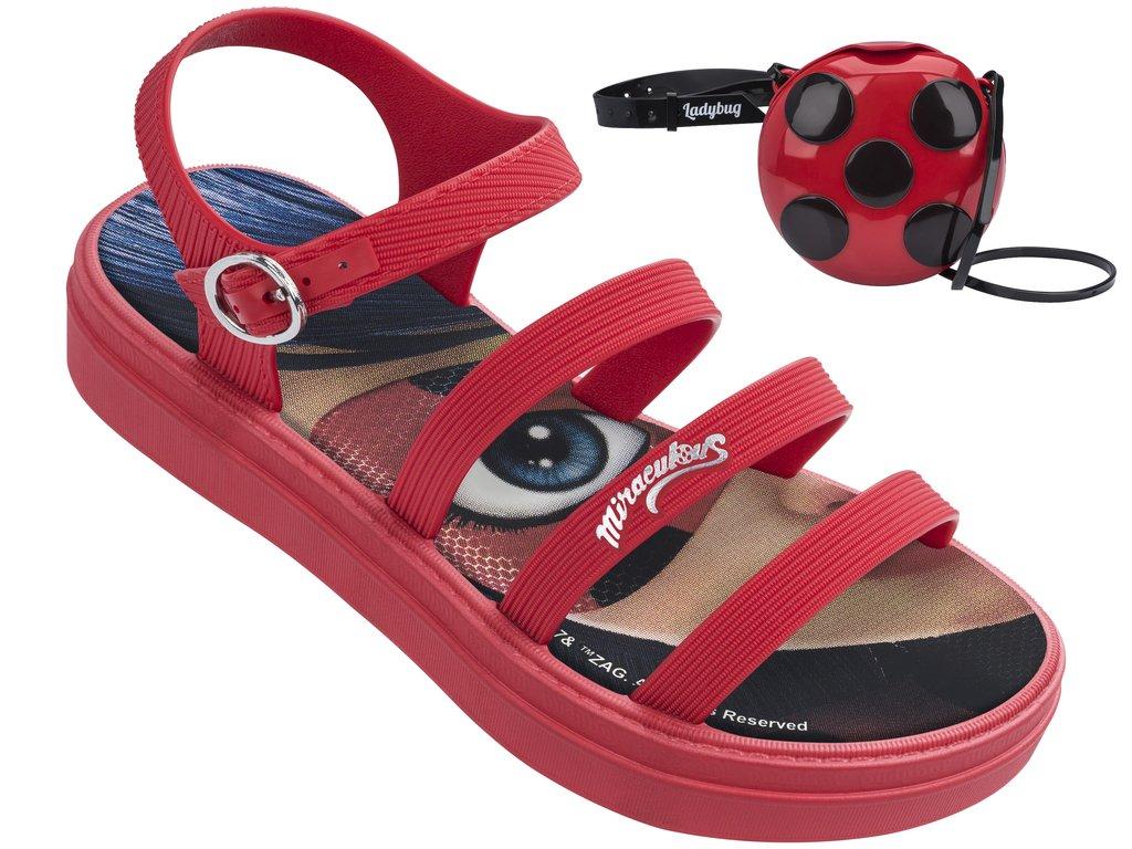 8b824c0e5 Sandália Infantil Grendene Ladybug (Com Brinde) 21634-21720  Vermelho Vermelho