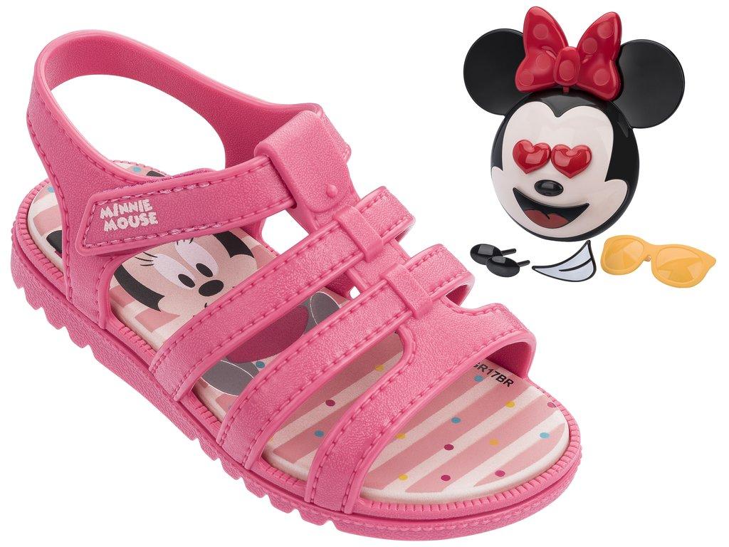 03c82c8c42173 Sandália Infantil Grendene Mickey e Minnie (Com Brinde) 21691-52246  Rosa Rosa