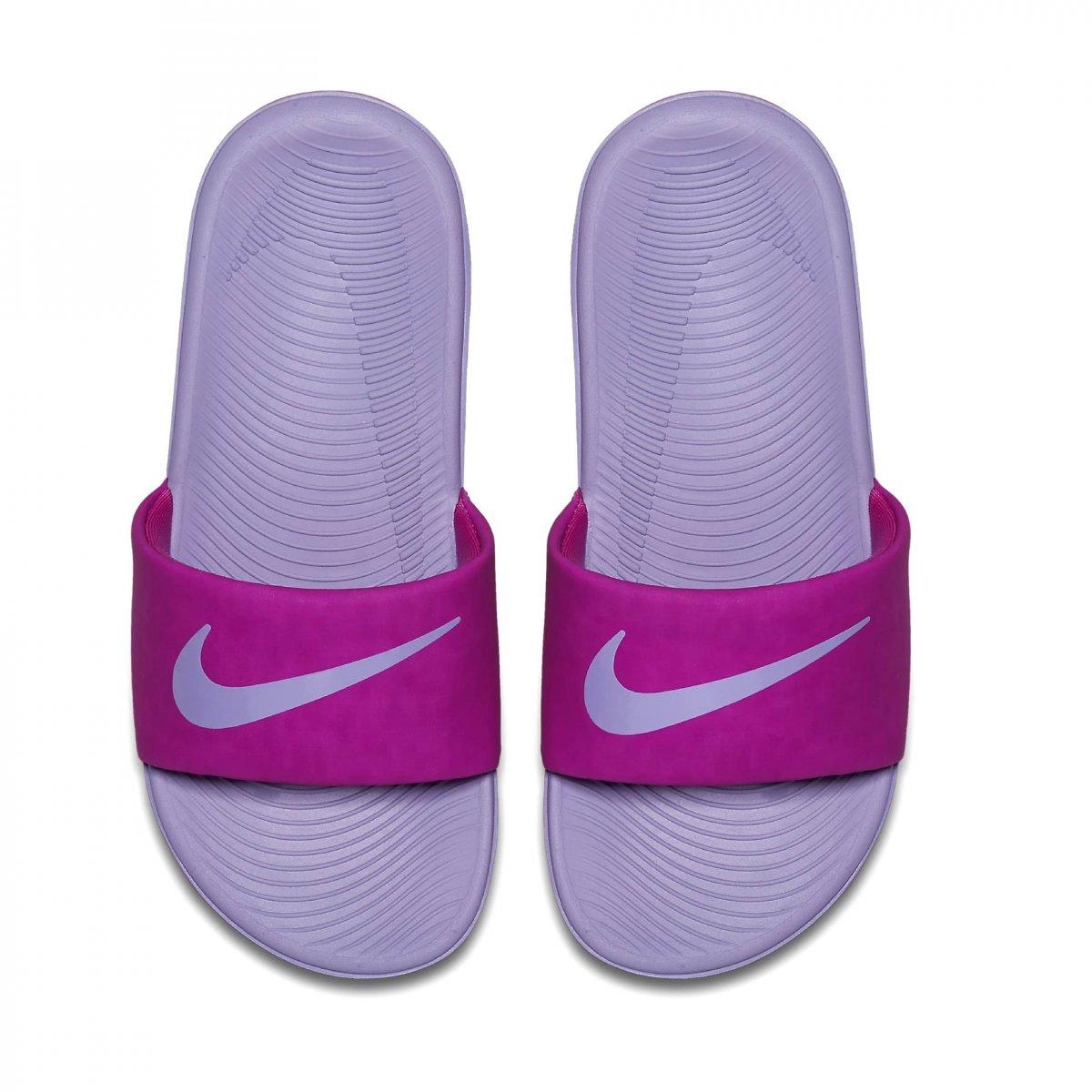 a7d4de09cf078 Sandália Infantil Nike Kawa Slide 819353-601 - Roxo - Calçados ...