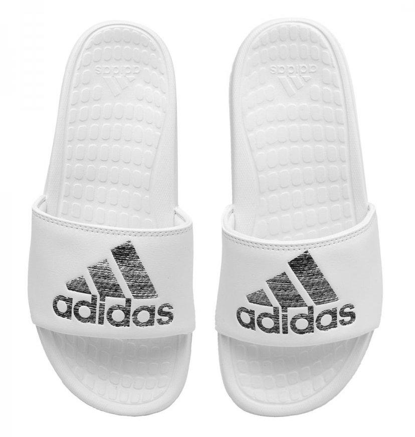 1e3018cd1f839 Sandália Masculina Adidas Voloomix Slide S80406 Branco Preto
