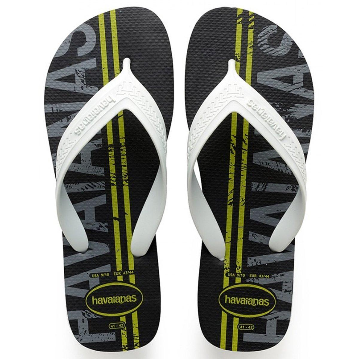 64f5b9ad1 Sandália Masculina Havaianas Top Max Logomania 4141871 0090 - Preto ...