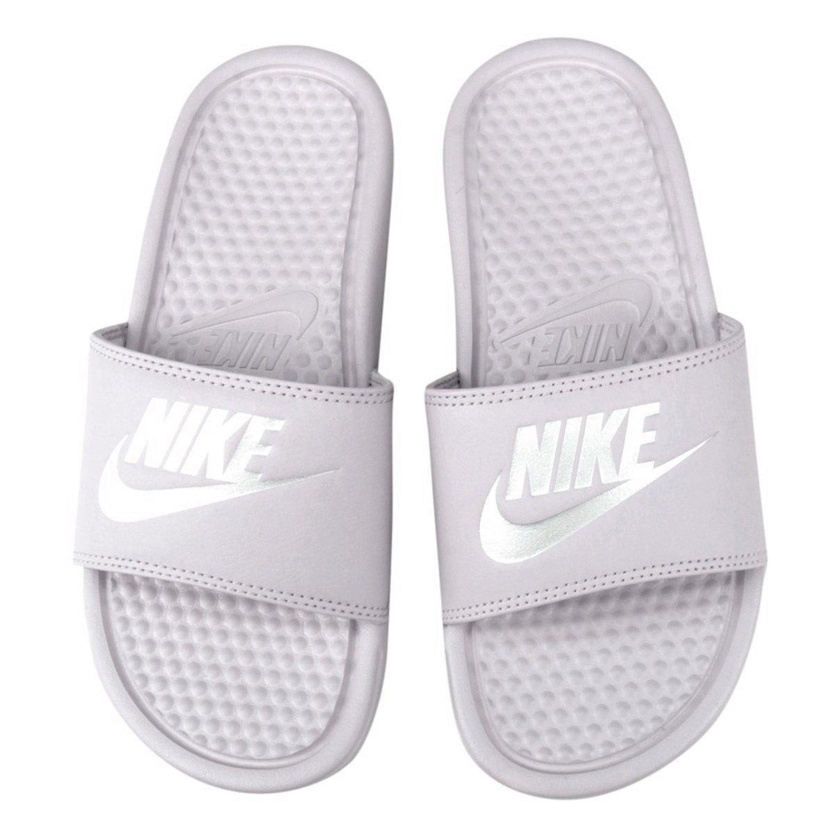 9de7f5a7de4e Sandália Nike Benassi JDI 343881-614 - Rosa Prata - Calçados Online ...
