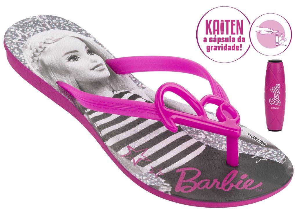 571bc548c Sandália Infantil Rasteira Grendene Barbie (Com Brinde) 21815-20791 ...