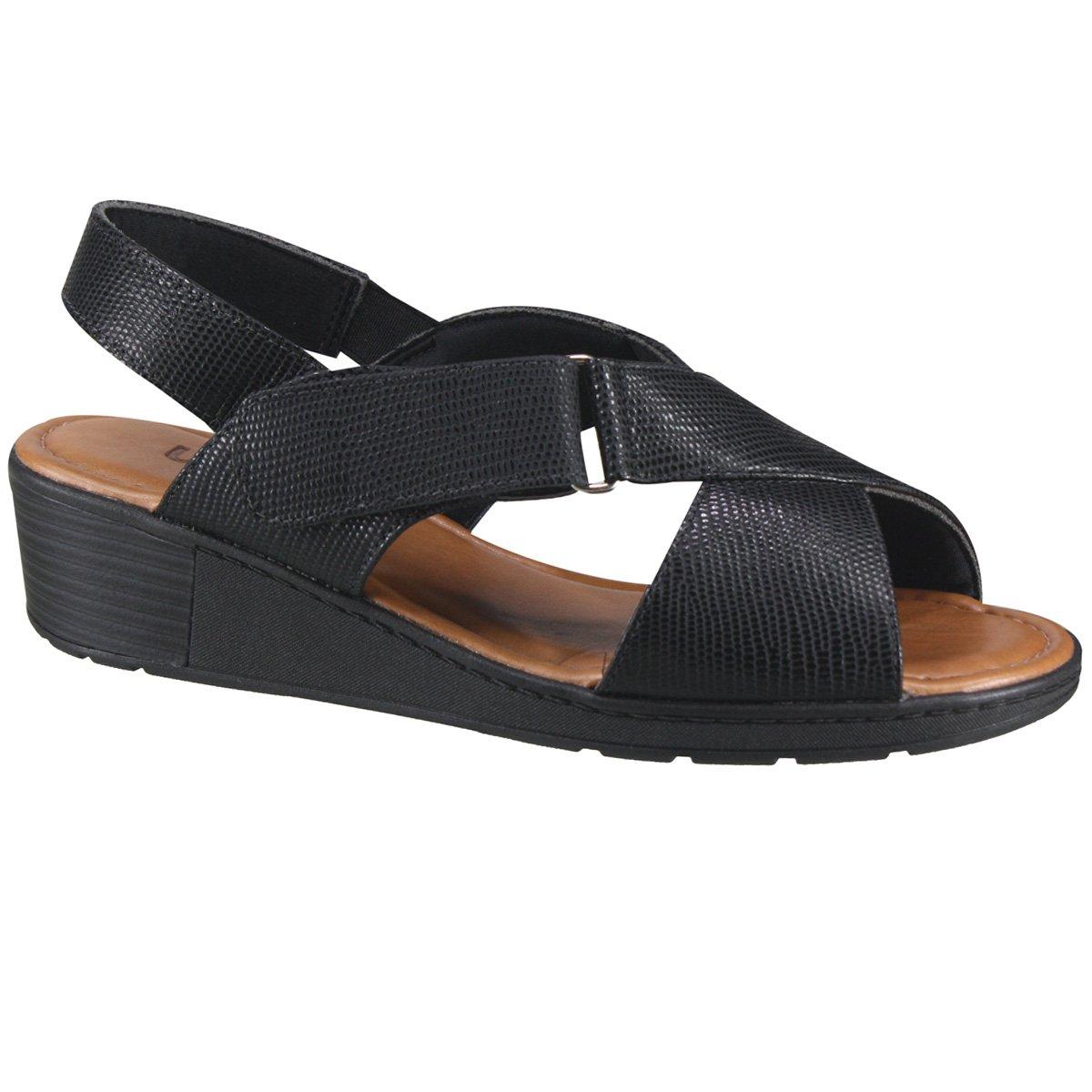 4c272ebd4 Sandália Usaflex Anabela Z8307 2 - Preto (Galapagos) - Calçados ...
