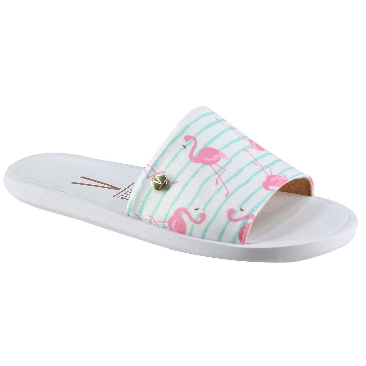 8485356035 Sandália Vizzano Slide 6363.105 14819 53141 Multi Verde (Cetim Flamingo)