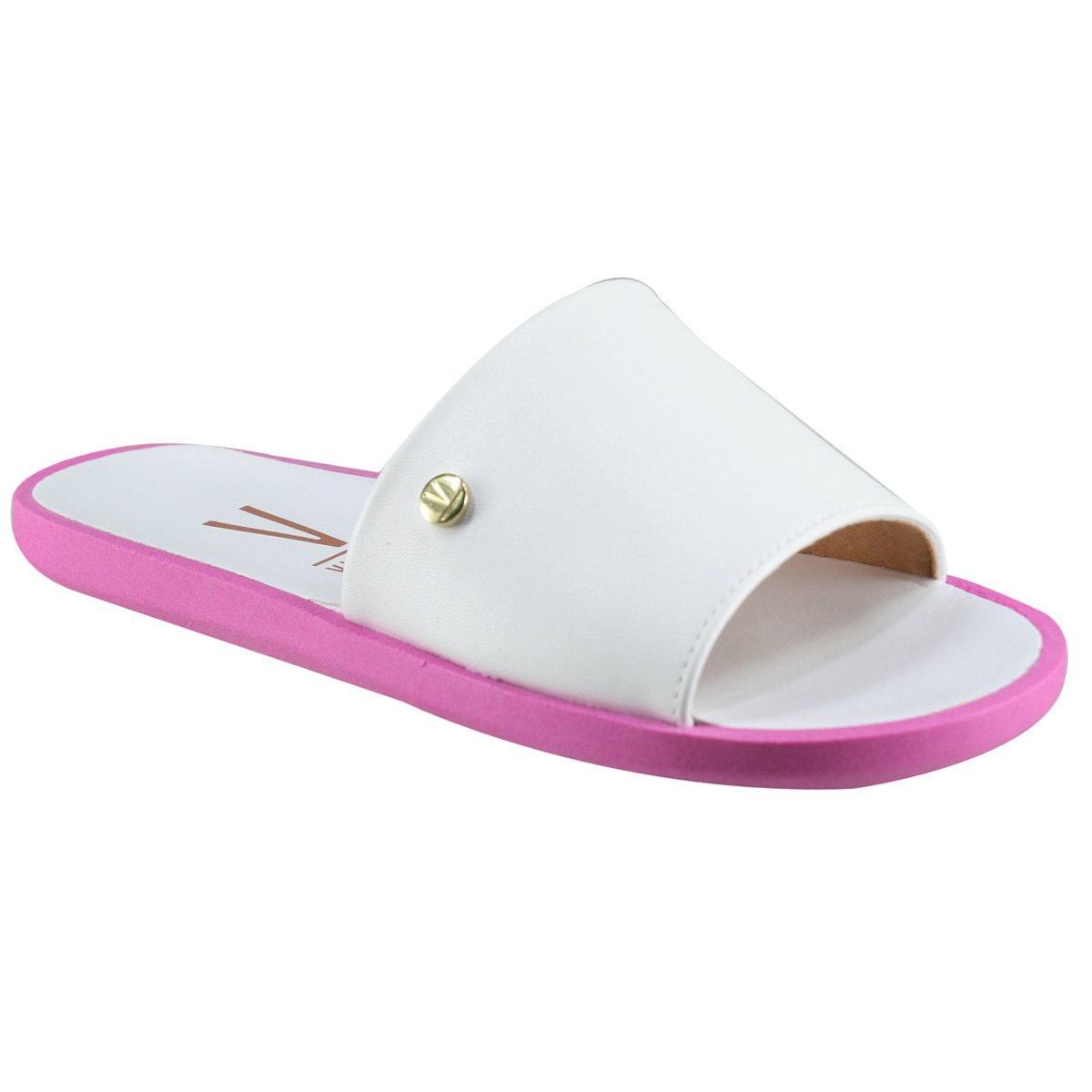 eb9d018eb9 Sandália Vizzano Slide 6363.105 7286 20092 - Branco Pink - Calçados Online  Sandálias