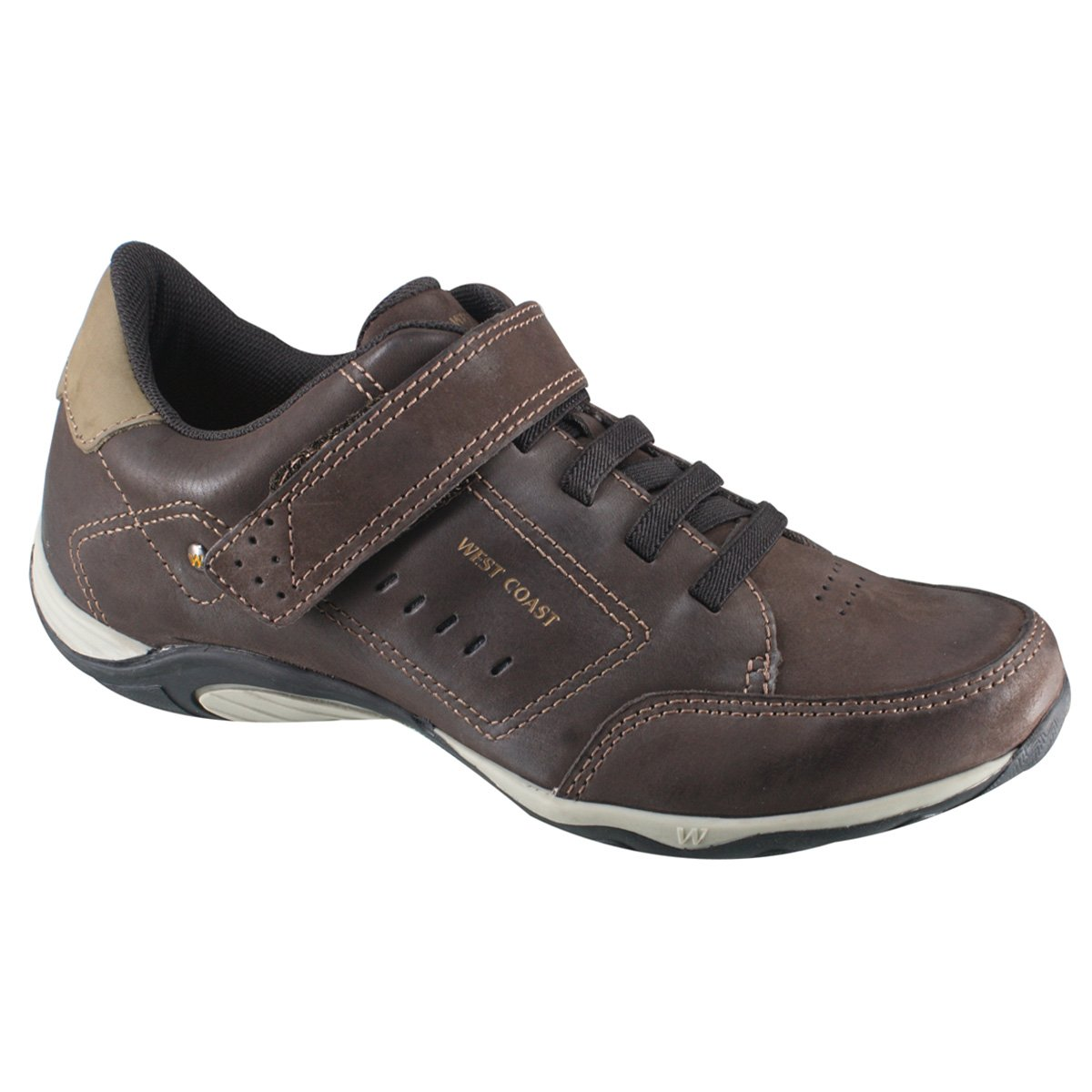 8bf55c2f15 Sapatênis Masculino West Coast 119723CP-2 Cafe Escuro Castor (Rodeo Brush)